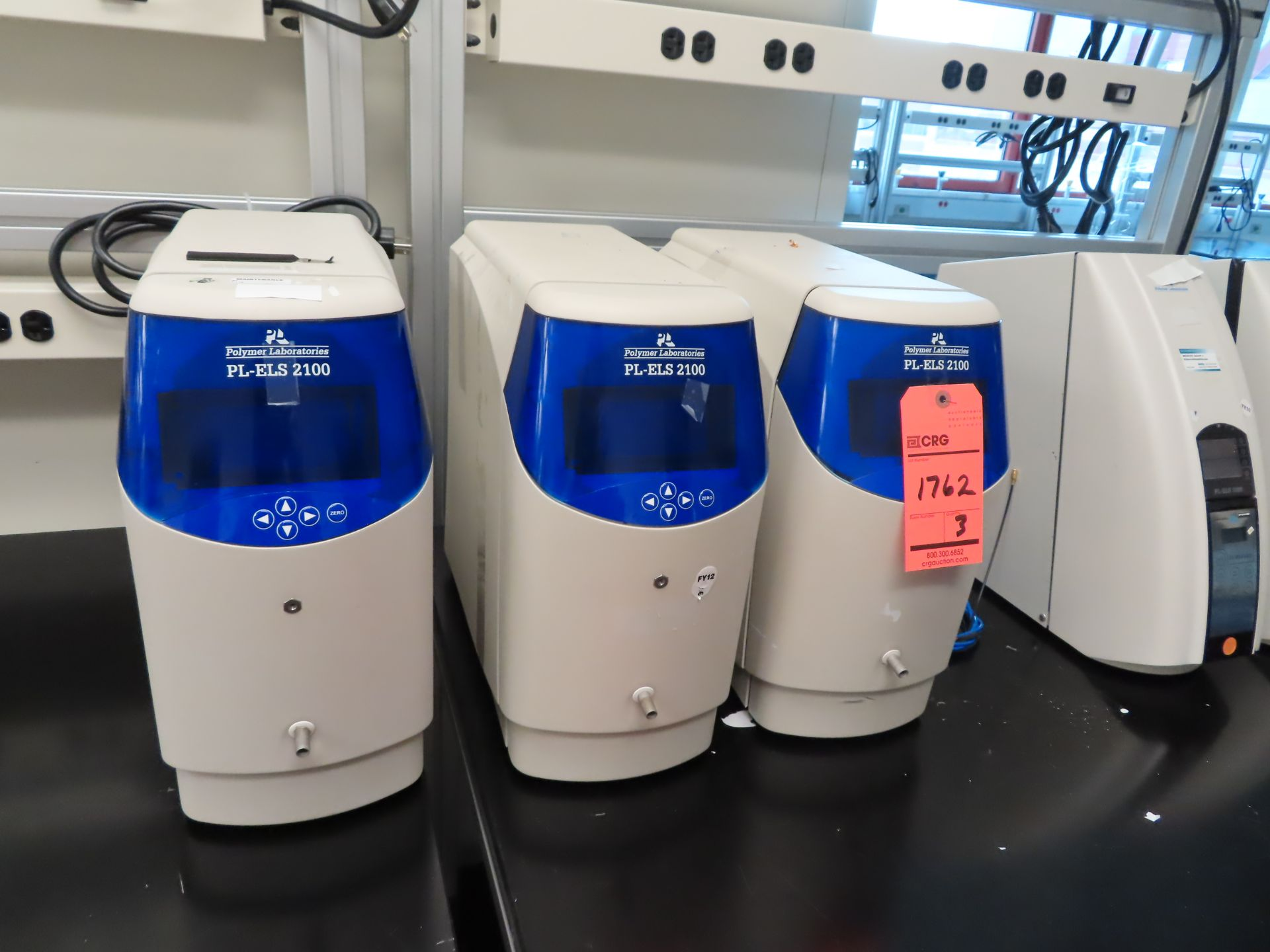 Lot 1762 - Lot of (3) Polymer Laboritories PL-ELS 2100 Evaporative light scattering detectors, located in B