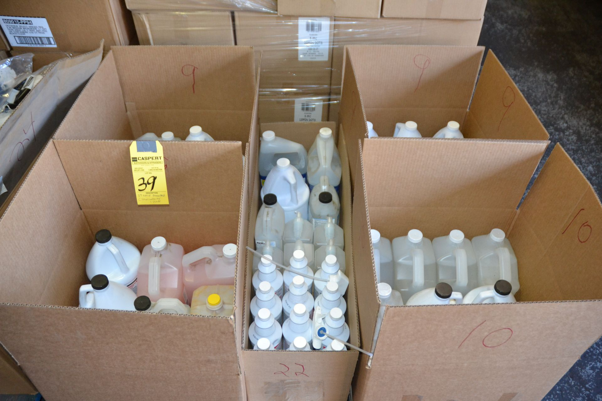 Lot 39 - ASSORTED CHEMICALS ON SKID