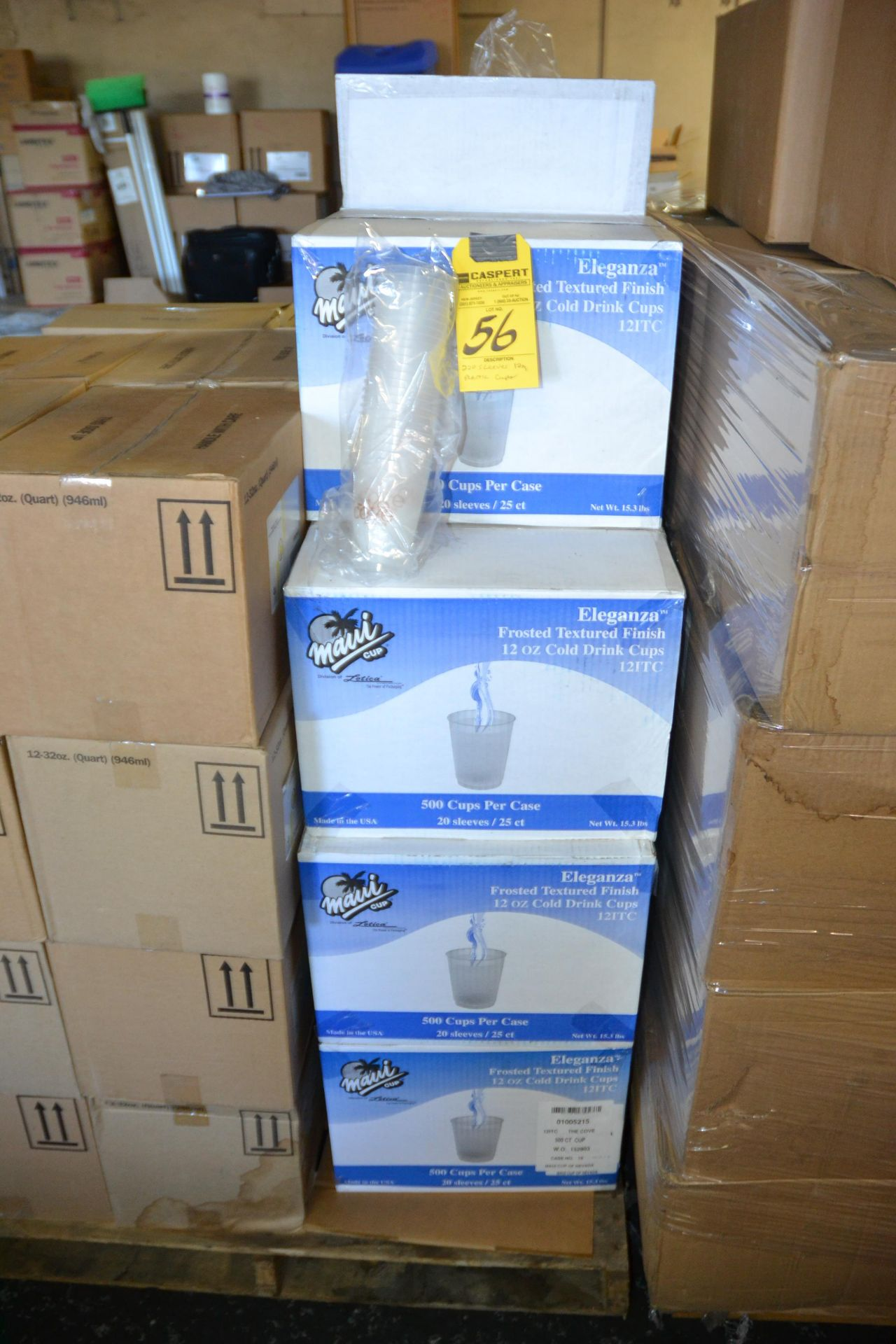 Lot 56 - SLEEVES OF 12 OZ PLASTIC CUPS