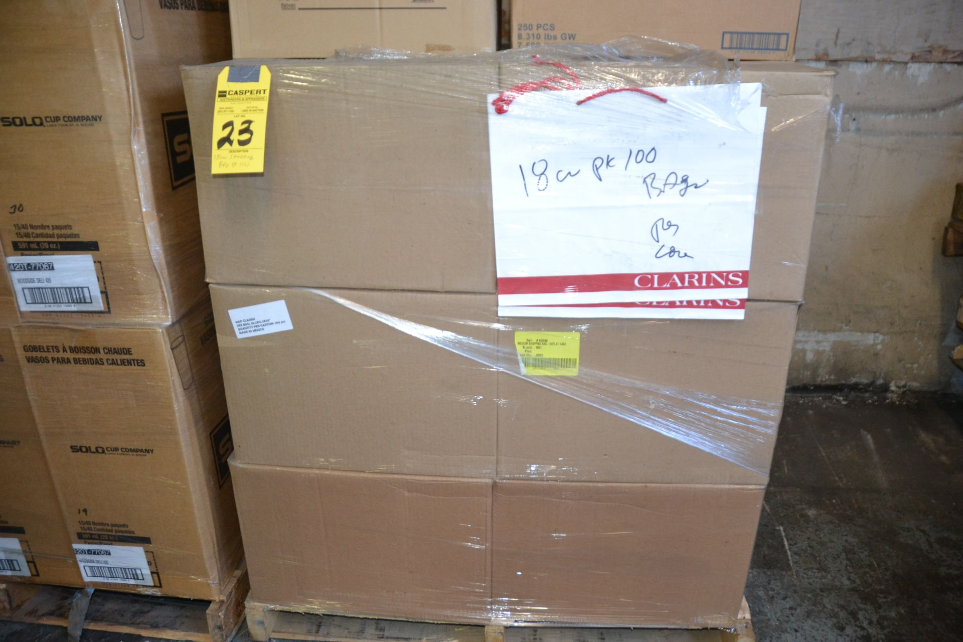 Lot 23 - CASES SHOPPING BAGS - 100 / PER