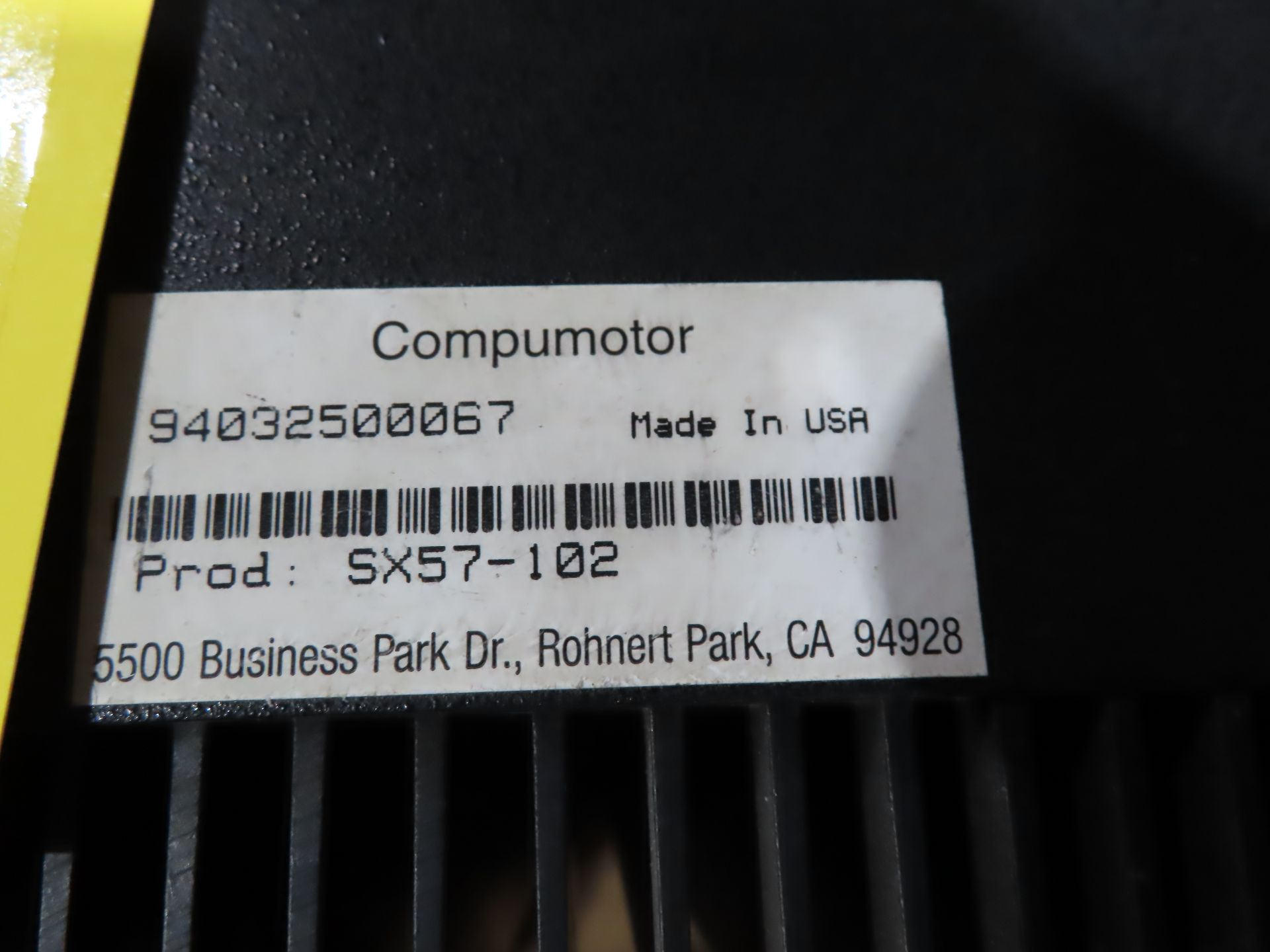 Lot 110 - Parker Compumotor model SX57-102, as always, with Brolyn LLC auctions, all lots can be picked up