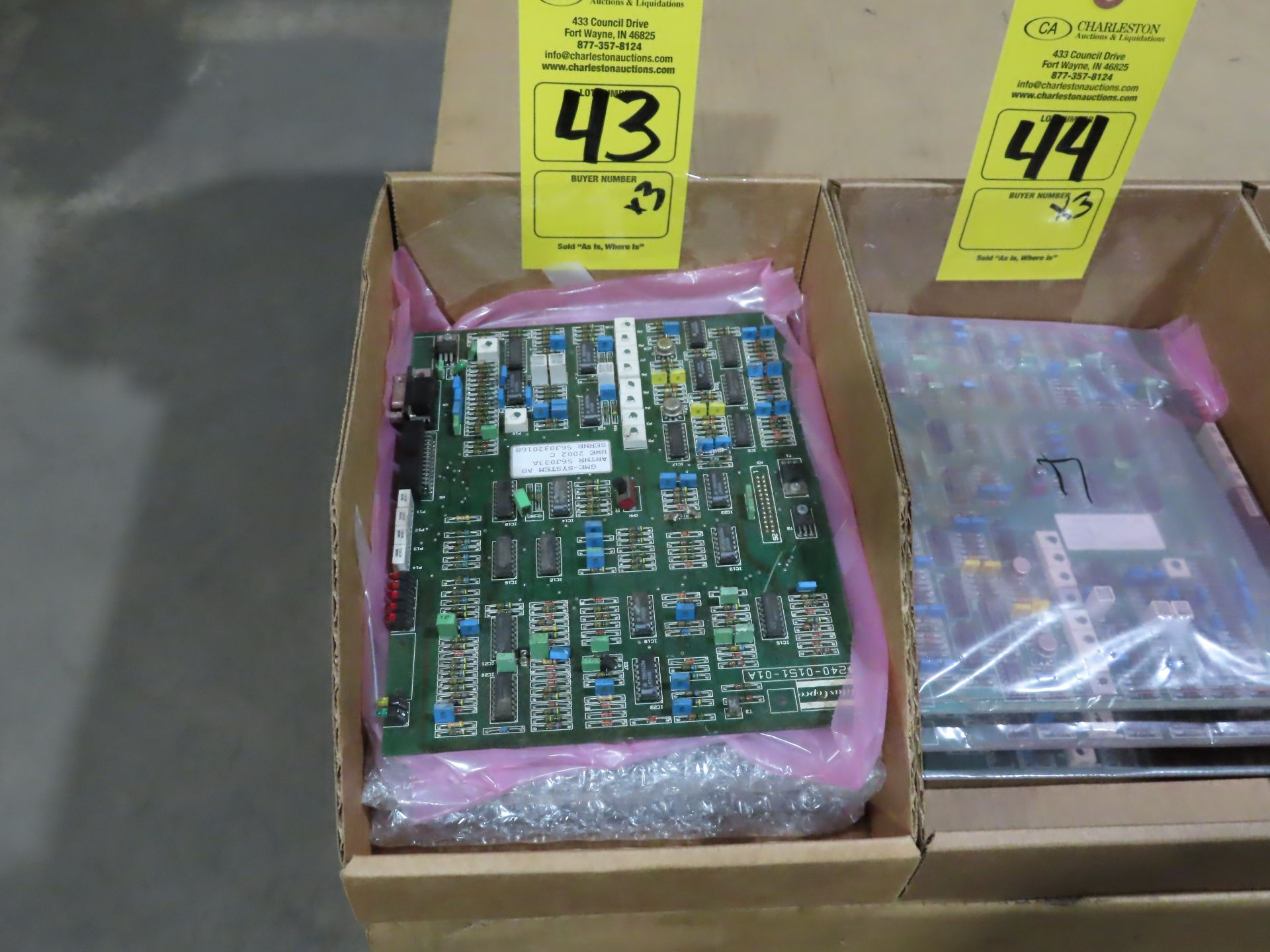 Lot 43 - Qty 3 Altas Copco model 56J033A control boards, as always, with Brolyn LLC auctions, all lots can be