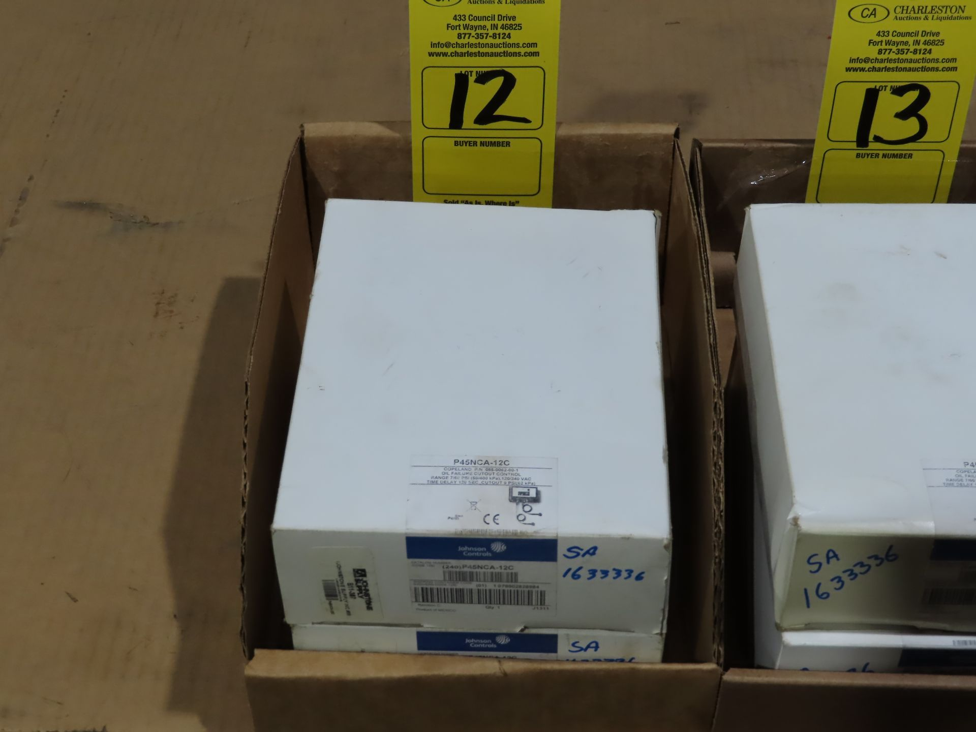 Lot 12 - Qty 2 Johnson Controls model P45NCA-12C, new in boxes, as always, with Brolyn LLC auctions, all lots