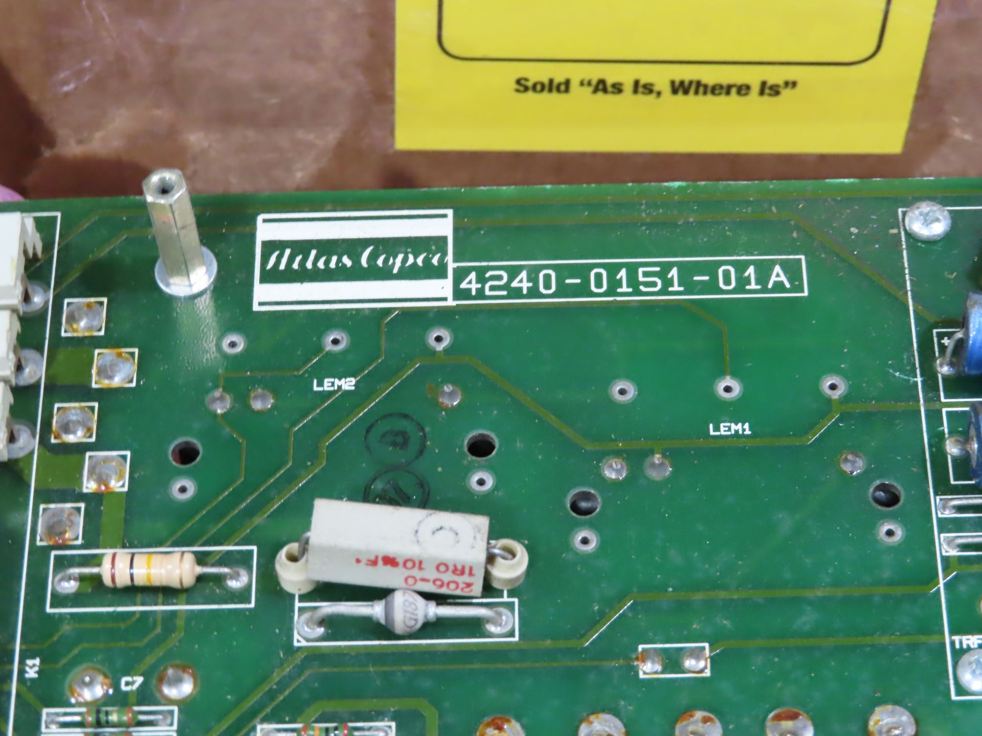 Lot 52 - Qty 3 Altas Copco model 4240-0151-01A replacement servo amp replacement board, as always, with