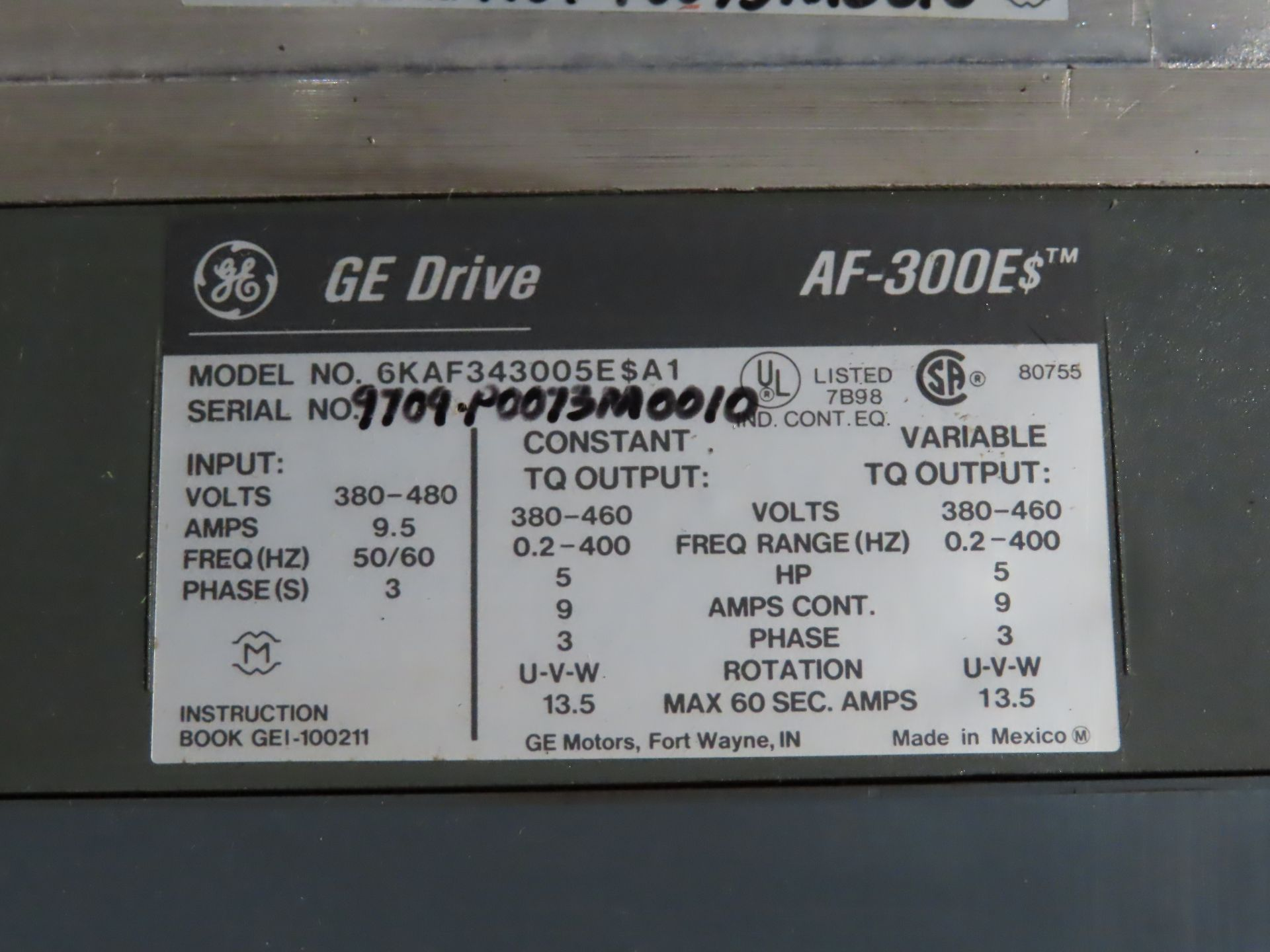Lot 7 - GE drive model 6KAF343005E$A1, used, as always, with Brolyn LLC auctions, all lots can be picked