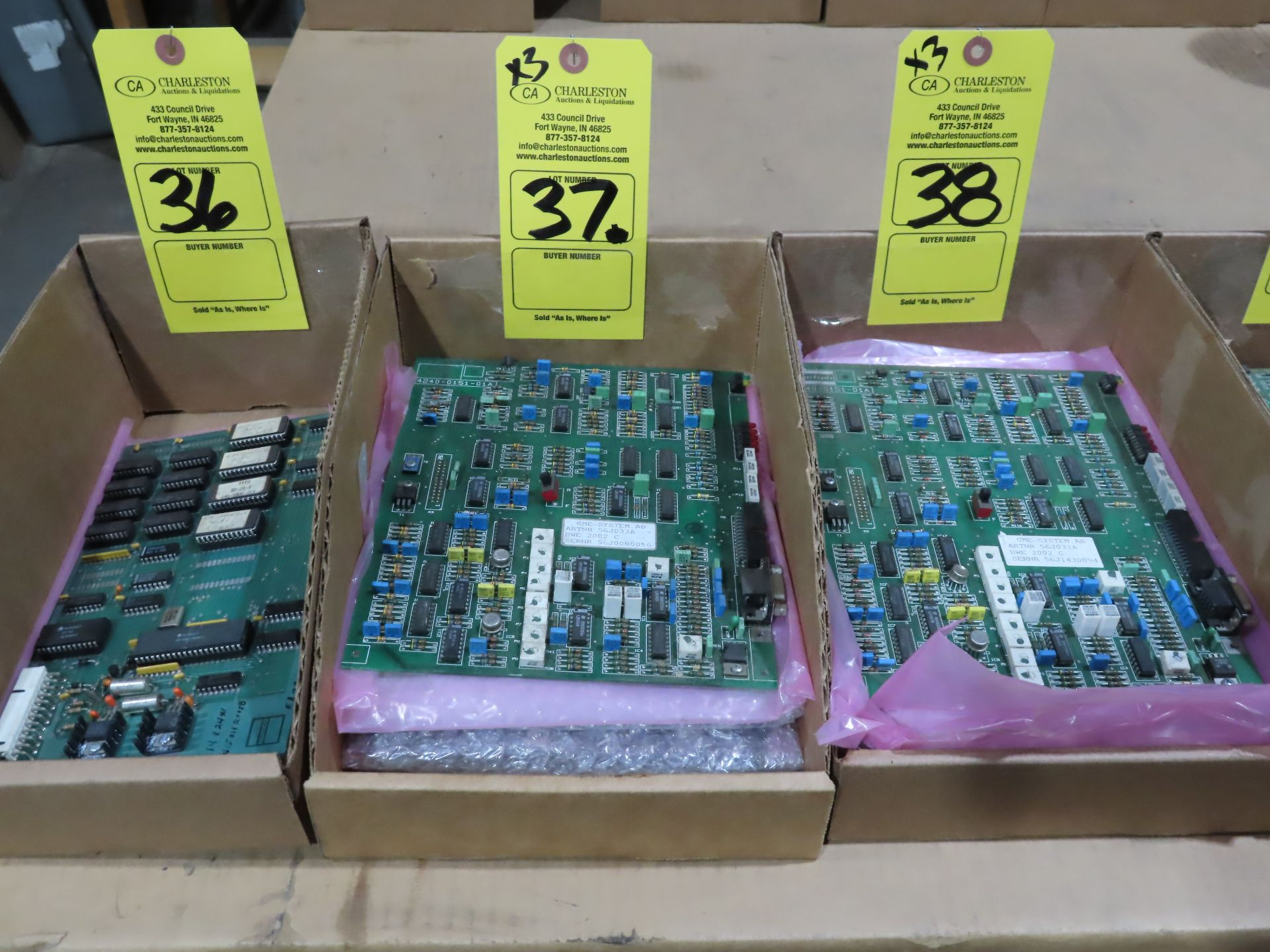 Lot 37 - Qty 3 Altas Copco model 56J033A control boards, as always, with Brolyn LLC auctions, all lots can be
