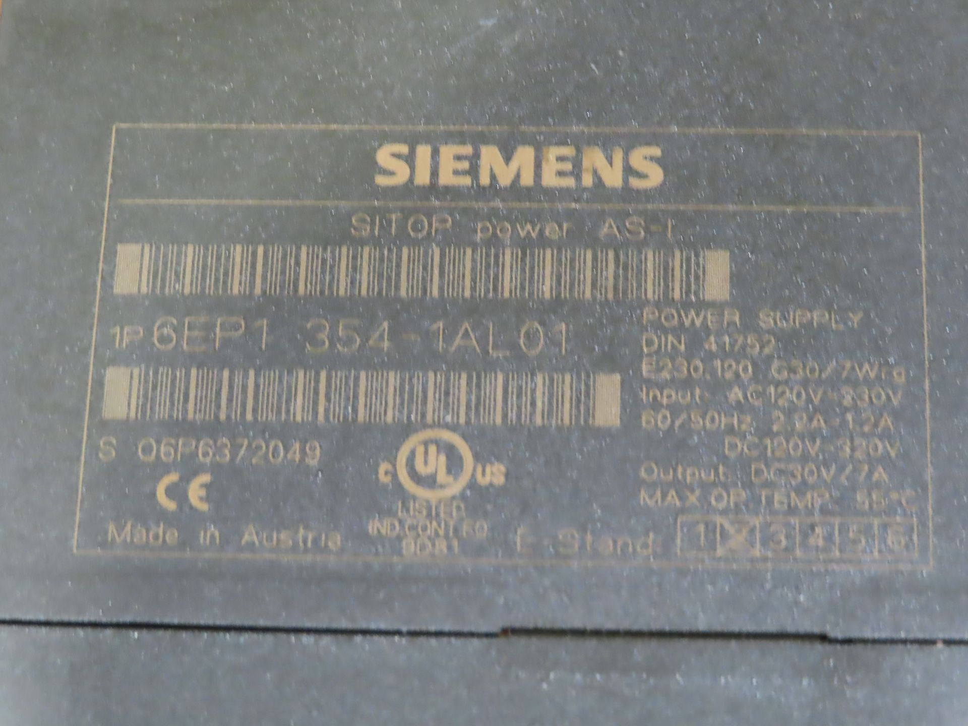 Lot 30 - Siemens model 6EP1-354-1AL01, as always, with Brolyn LLC auctions, all lots can be picked up from