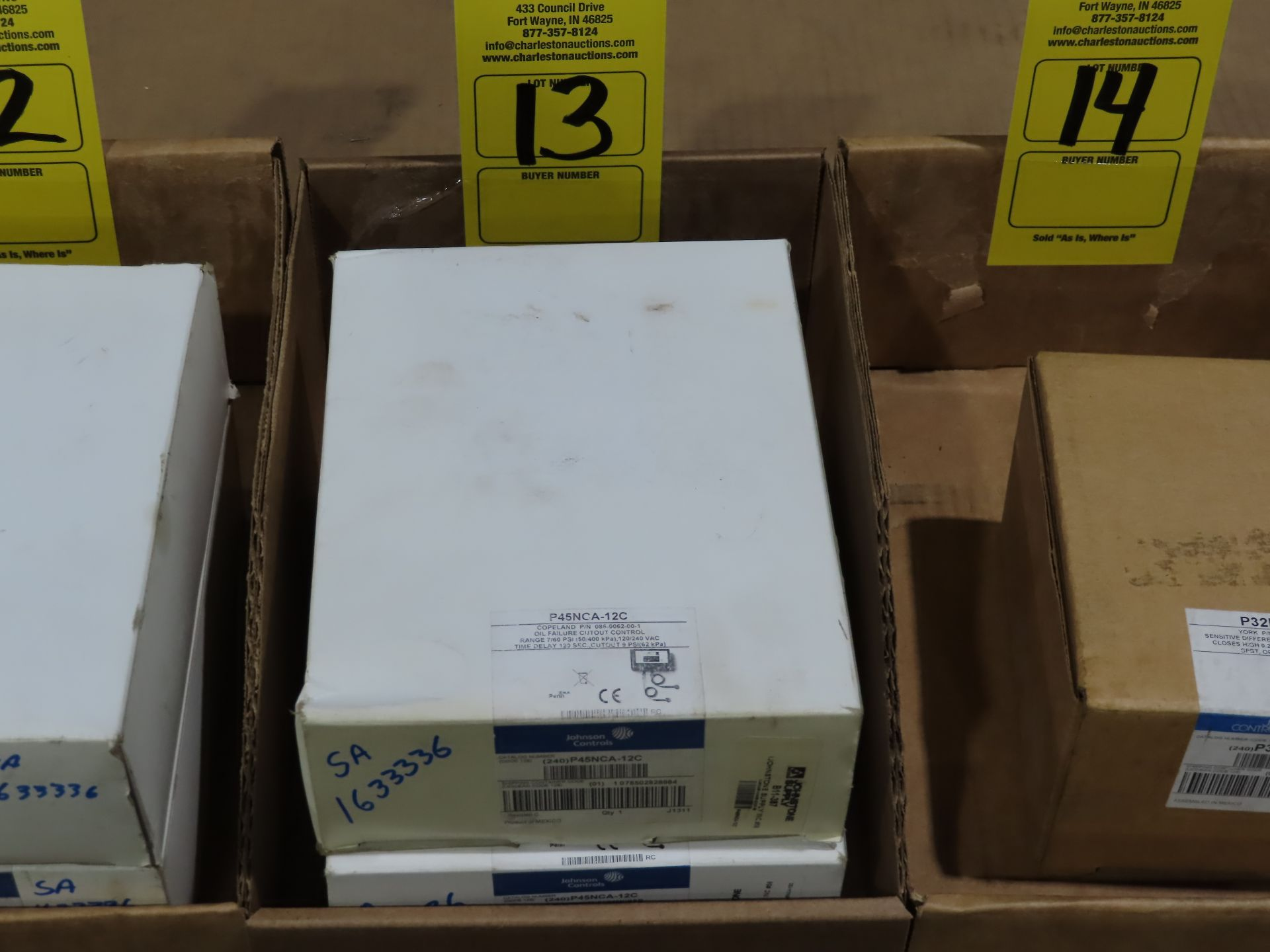 Lot 13 - Qty 2 Johnson Controls model P45NCA-12C, new in boxes, as always, with Brolyn LLC auctions, all lots