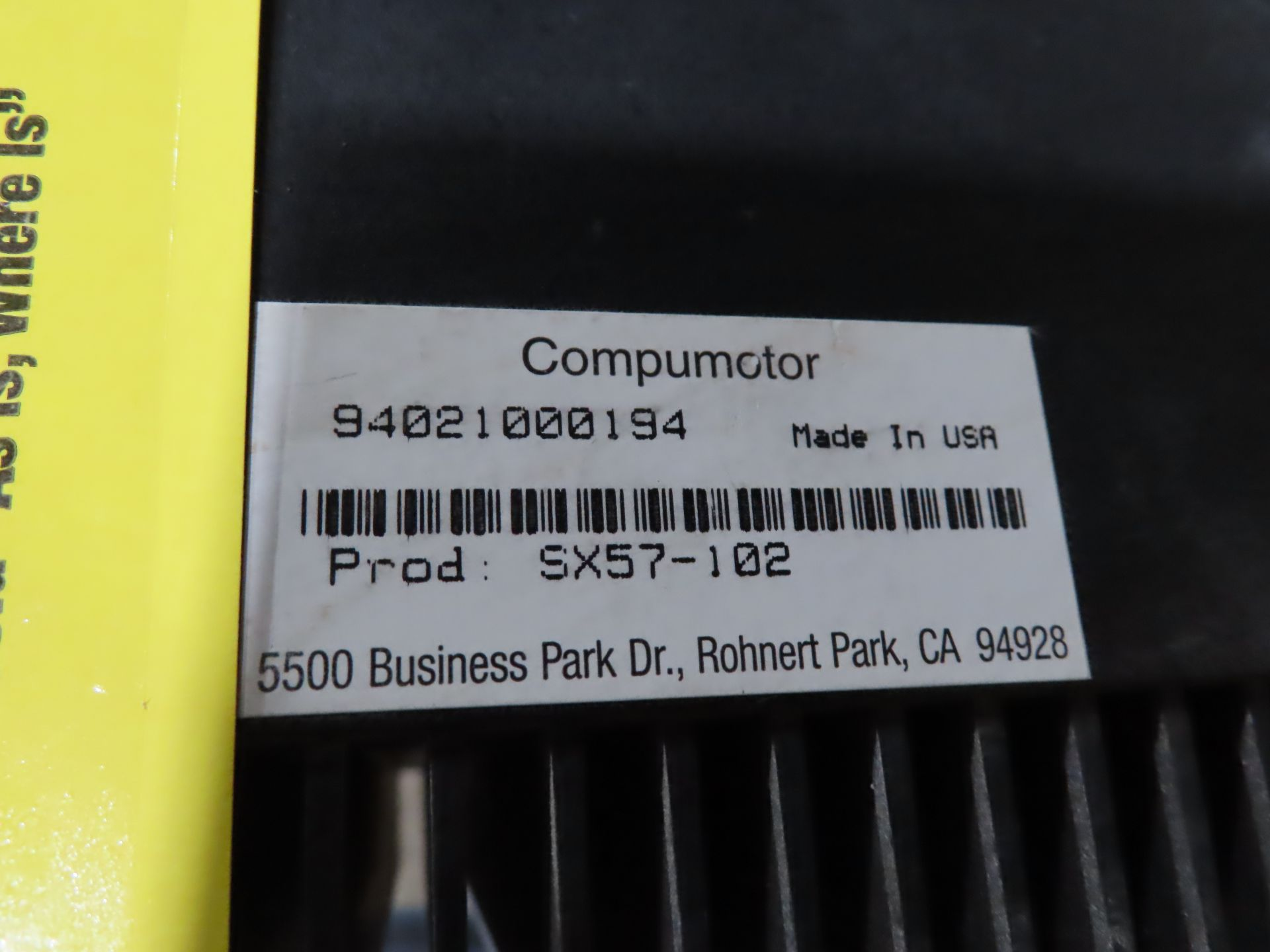 Lot 112 - Parker Compumotor model SX57-102, as always, with Brolyn LLC auctions, all lots can be picked up