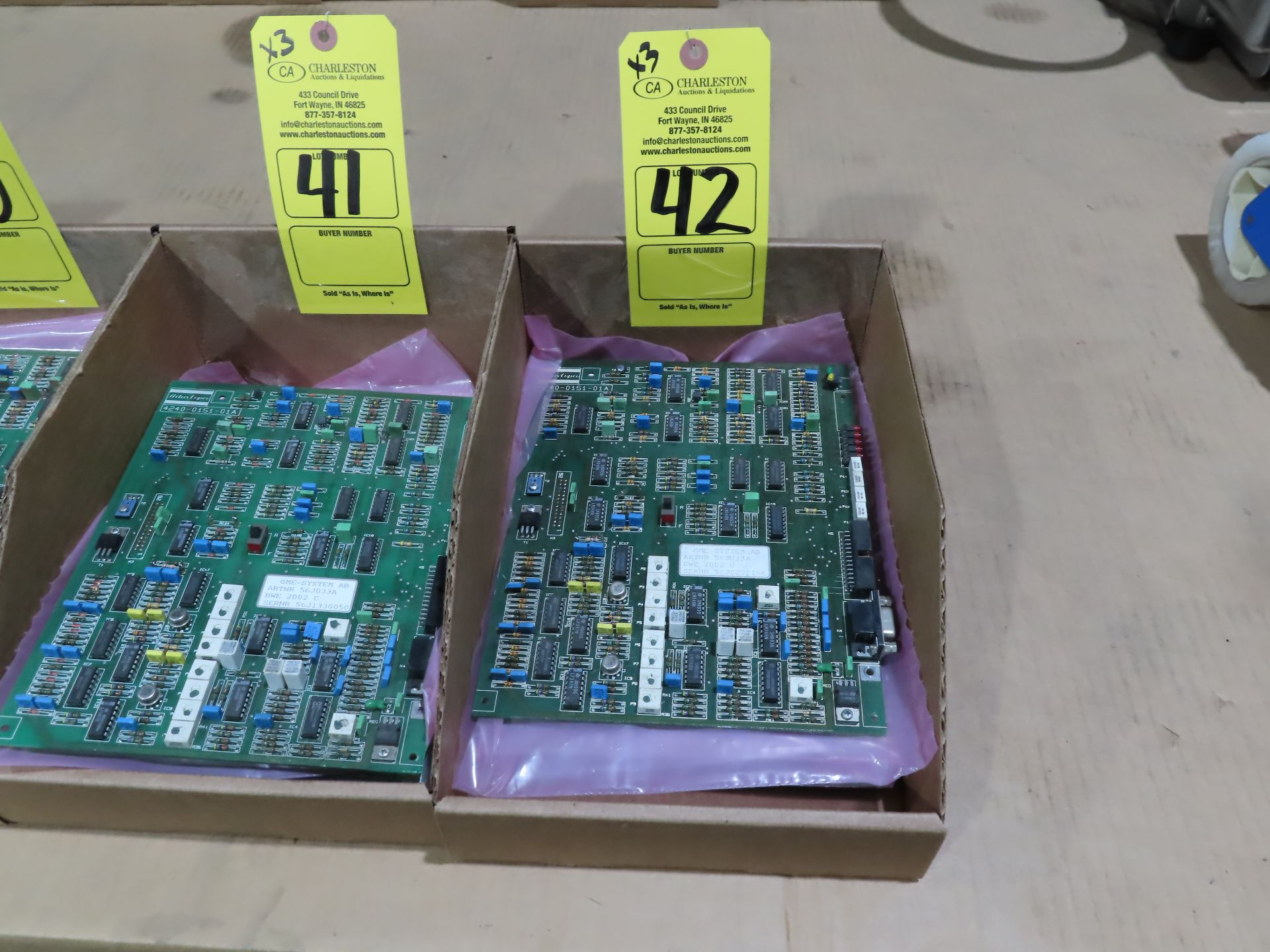 Lot 42 - Qty 3 Altas Copco model 56J033A control boards, as always, with Brolyn LLC auctions, all lots can be