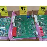 Lot 47 - Qty 3 Altas Copco model 4240-0151-01A replacement servo amp replacement board, as always, with