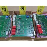 Lot 49 - Qty 3 Altas Copco model 4240-0151-01A replacement servo amp replacement board, as always, with