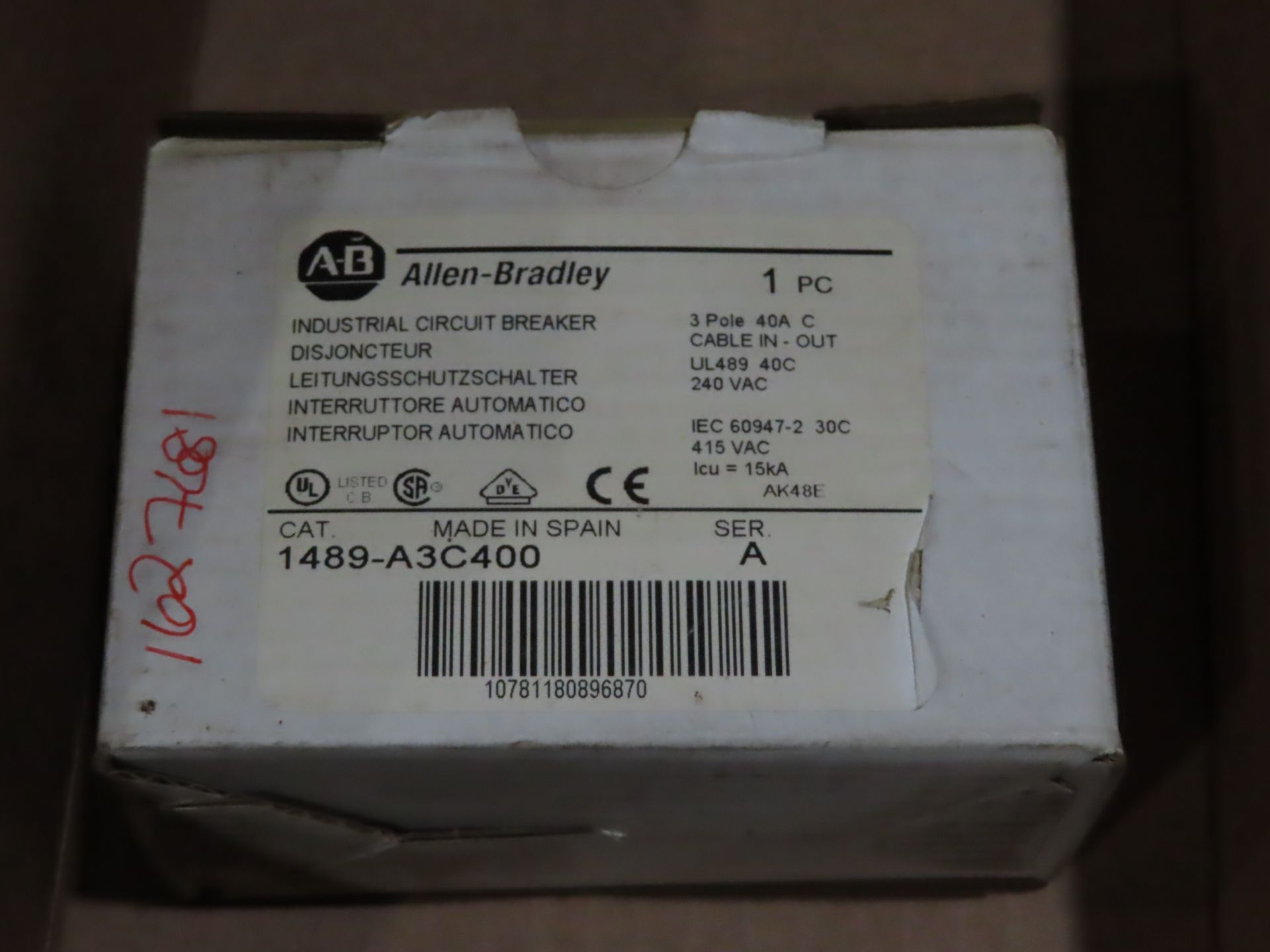 Lot 73 - Allen Bradley model 1489-A3C400 ser A, new in box, as always, with Brolyn LLC auctions, all lots can