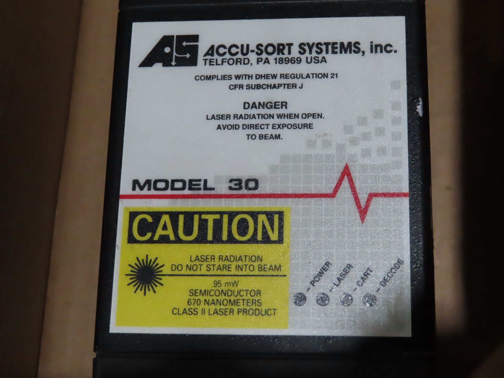 Lot 96 - Accu-Sort systems model 30, as always, with Brolyn LLC auctions, all lots can be picked up from