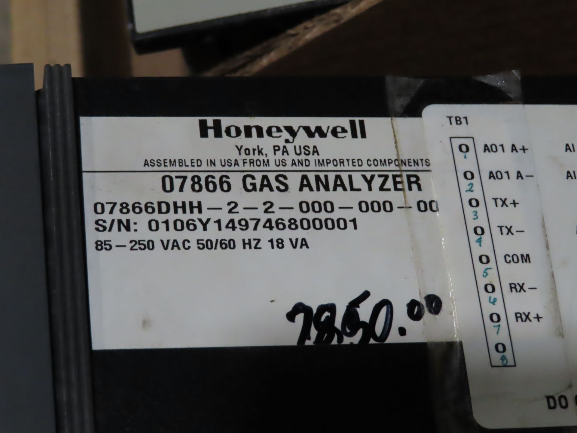 Lot 35 - Honeywell model 07866DHH-2-2-000-000-00, as always, with Brolyn LLC auctions, all lots can be picked