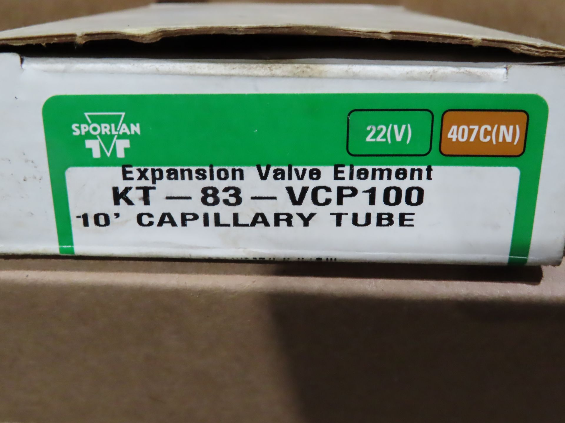 Lot 65 - Sporlan expansion valve element model KT-83-VCP100, as always, with Brolyn LLC auctions, all lots