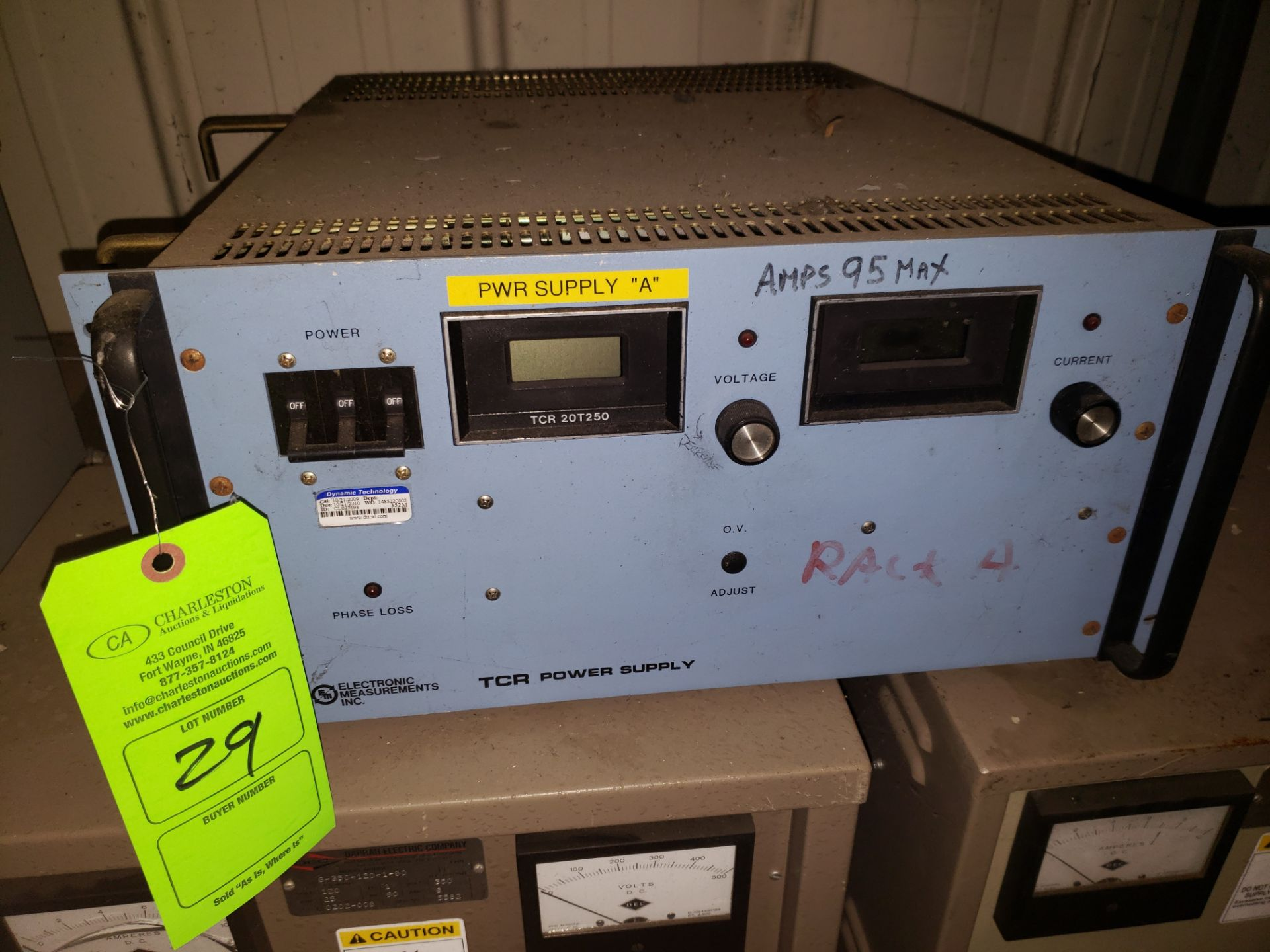 Lot 29 - EMI TCR POWER SUPPLY MODEL-TCR20T500-1-D S#91B-0943