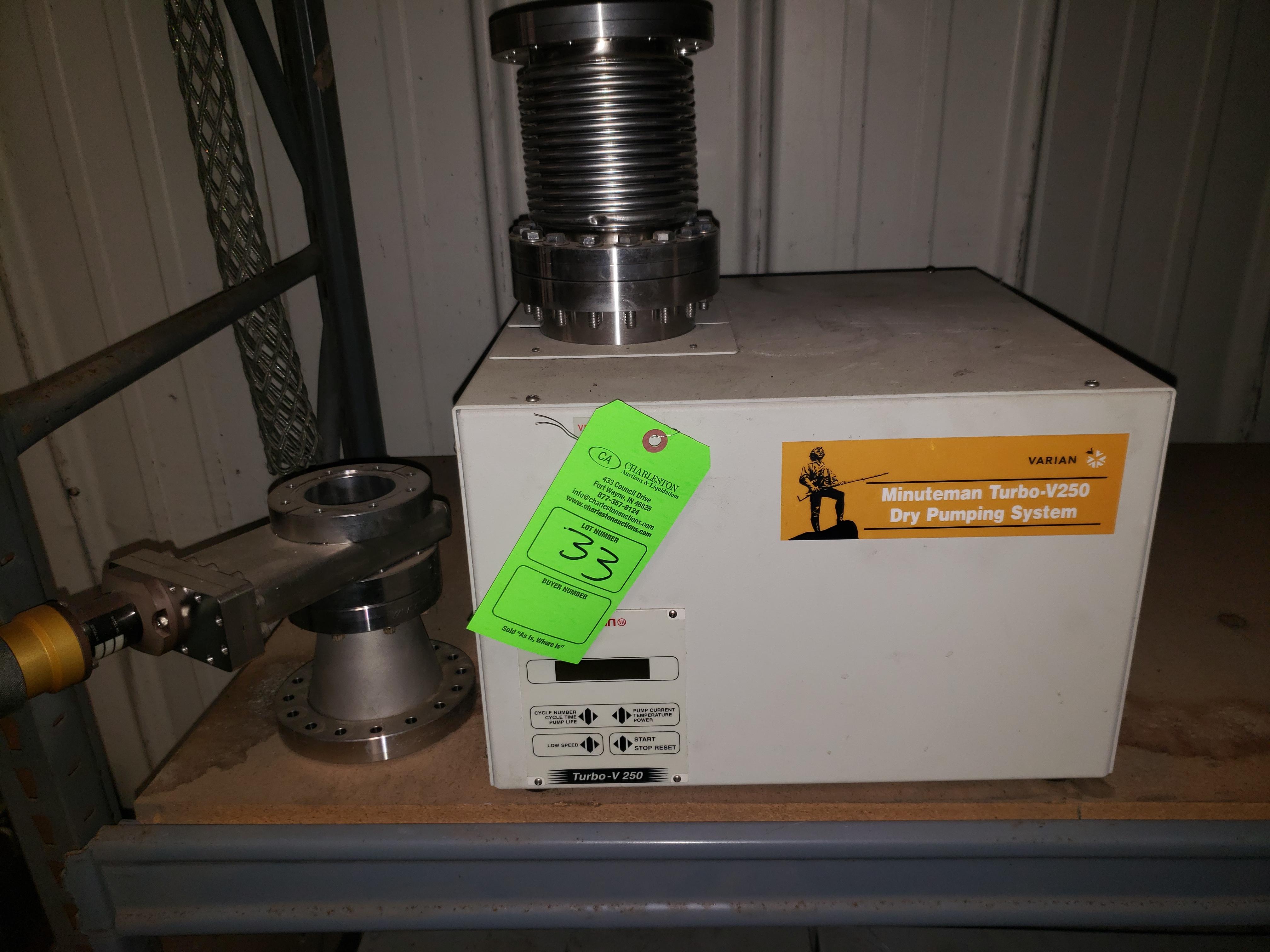 Lot 33 - VARIAN MINUTEMAN TURBO V250 DRY PUMPING SYSTEM