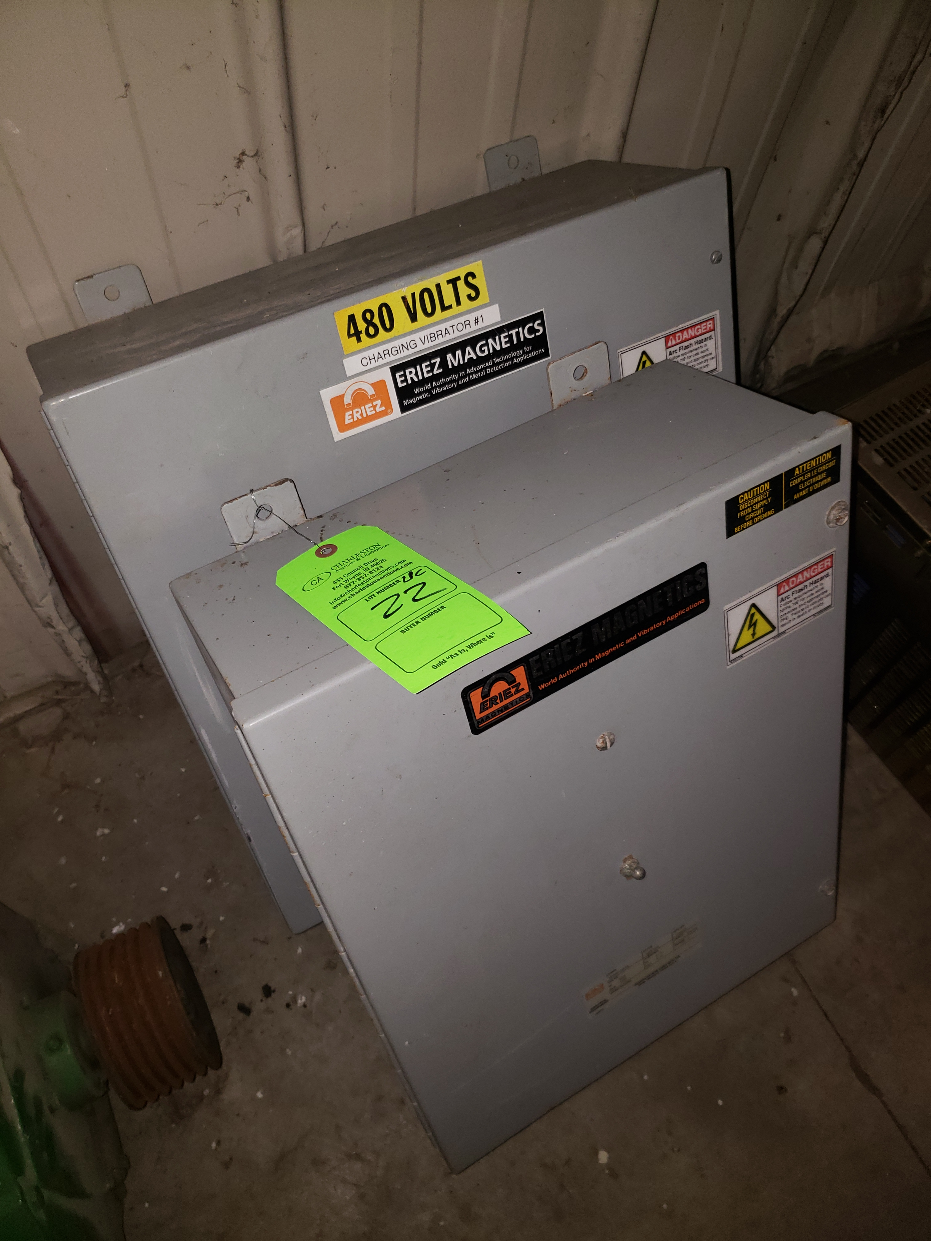 Lot 22 - (2) ERIES CONTROL CABINETS