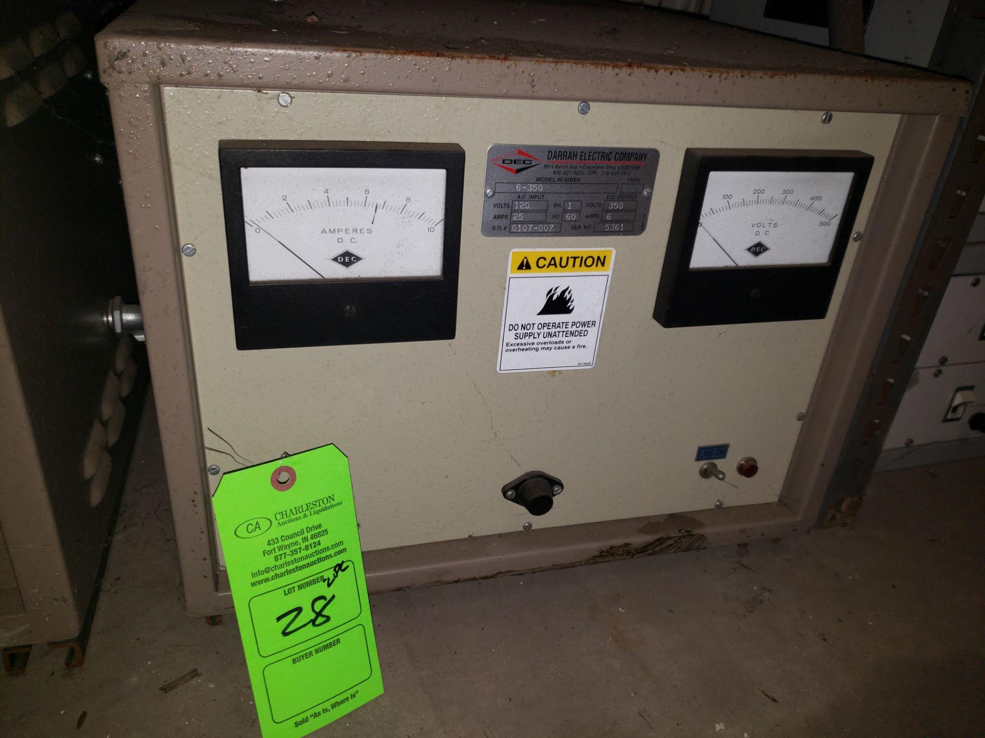 Lot 28 - (2) DEC POWER SUPPLY MODEL-6-1350-12-1-60