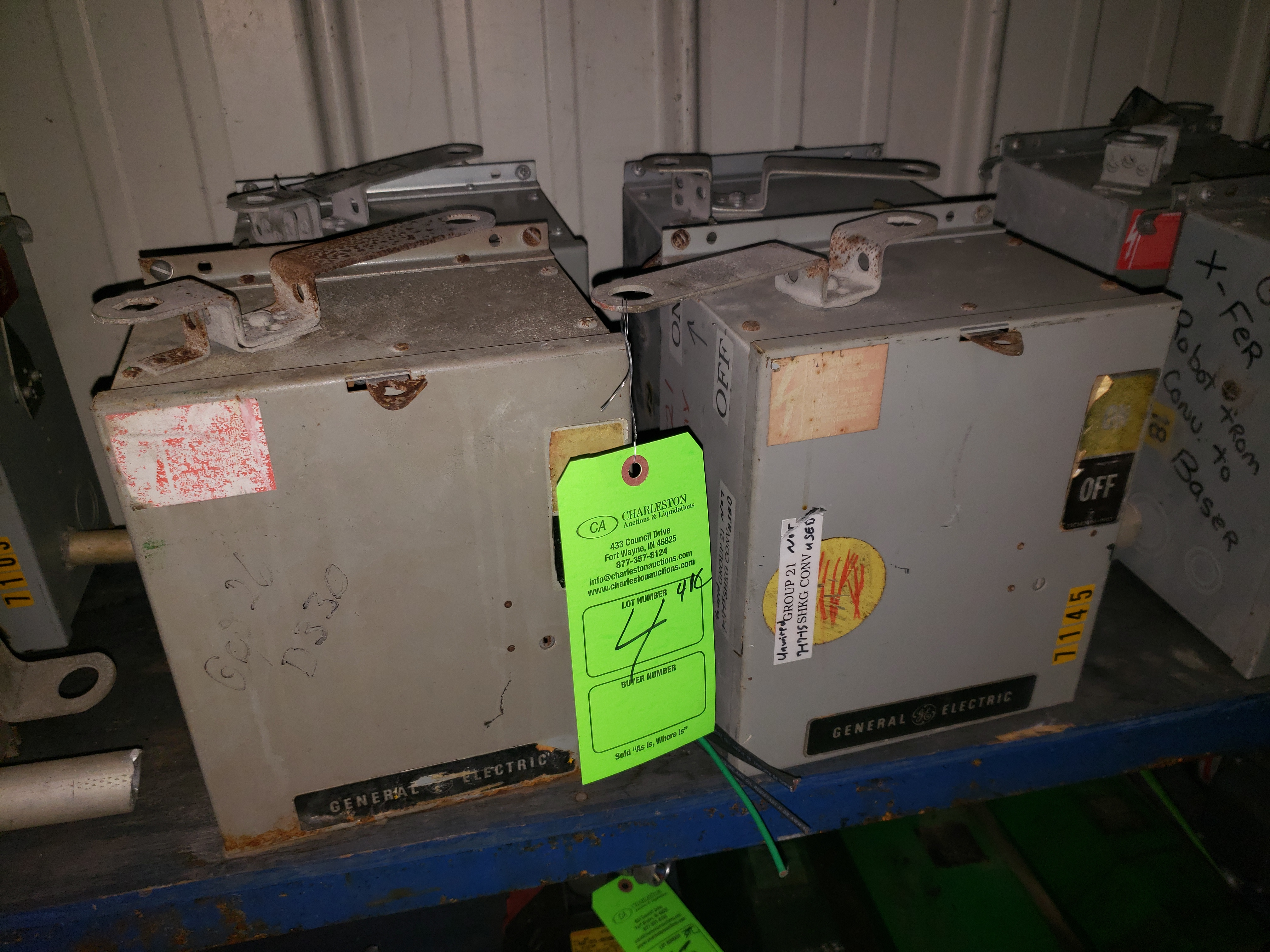 Lot 4 - (4) GE BUSS PLUGS FLEX APLUG 600V/30AMP/3PH