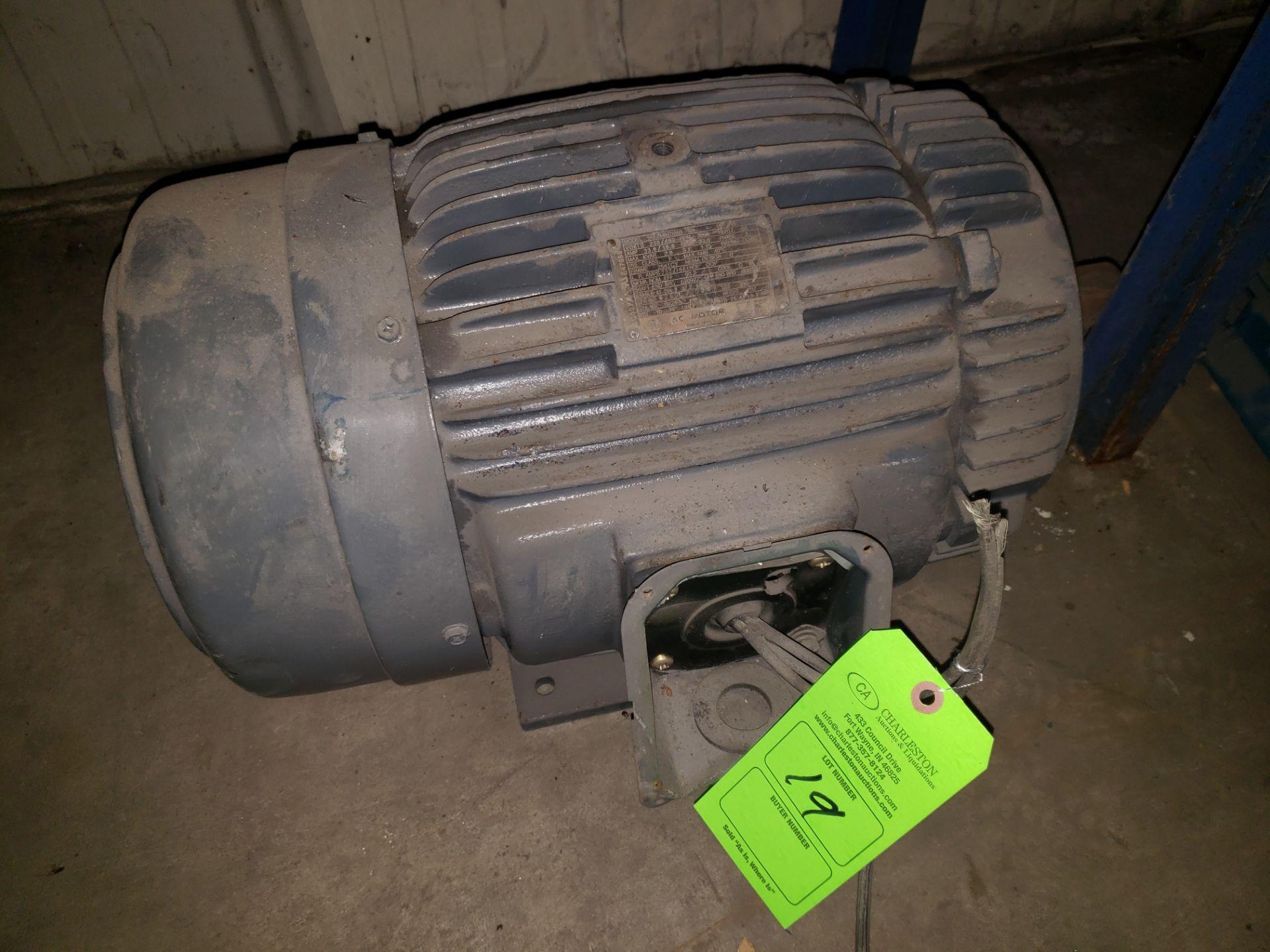 Lot 19 - GE AC MOTOR 15HP
