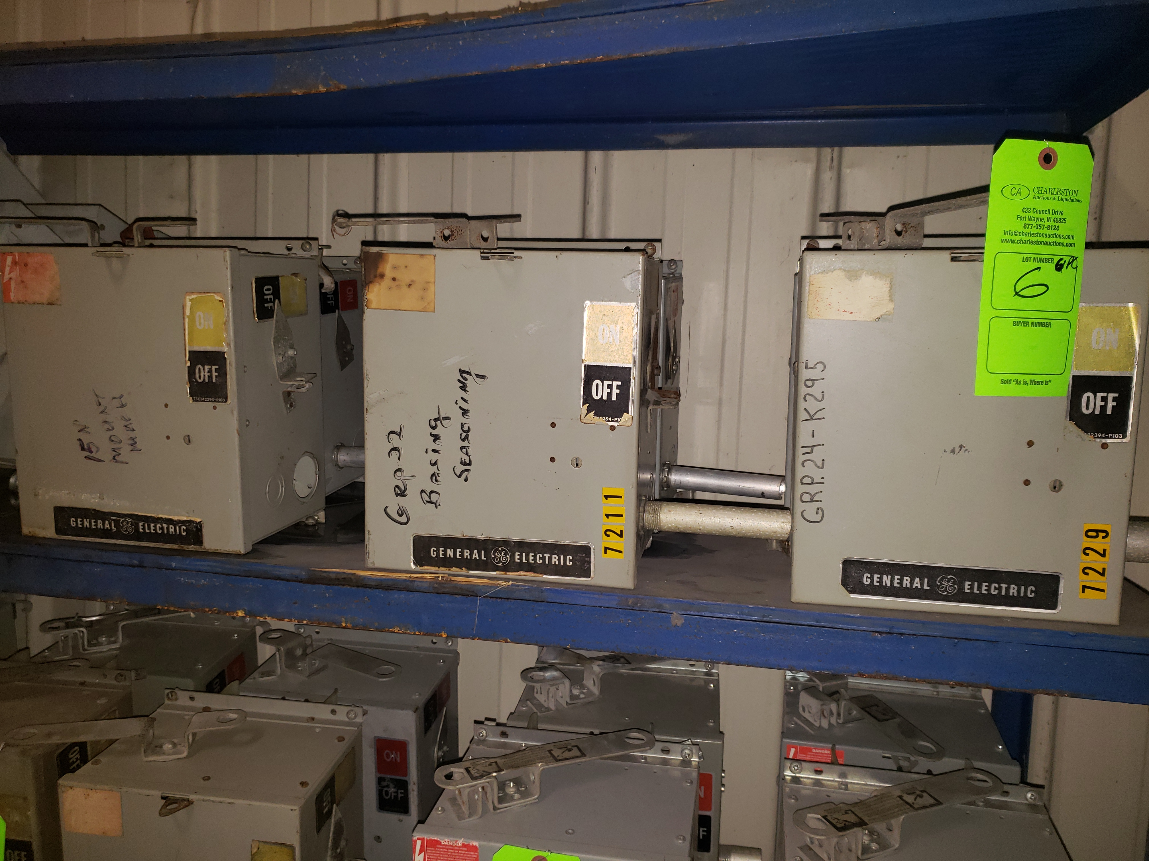 Lot 6 - (6) GE BUSS PLUGS FLEX APLUG 600V/30AMP/3PH