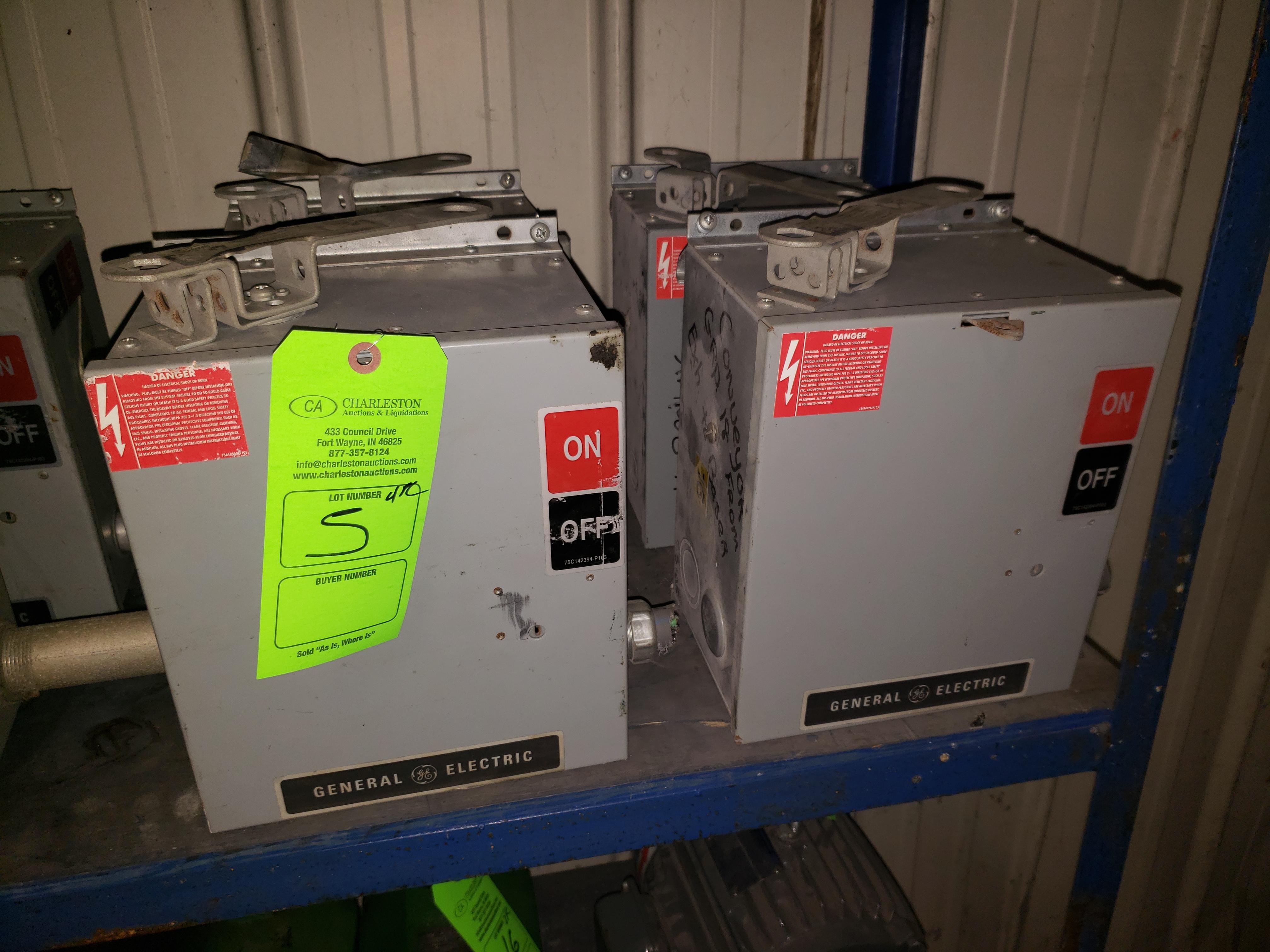 Lot 5 - (4) GE BUSS PLUGS FLEX APLUG 600V/30AMP/3PH