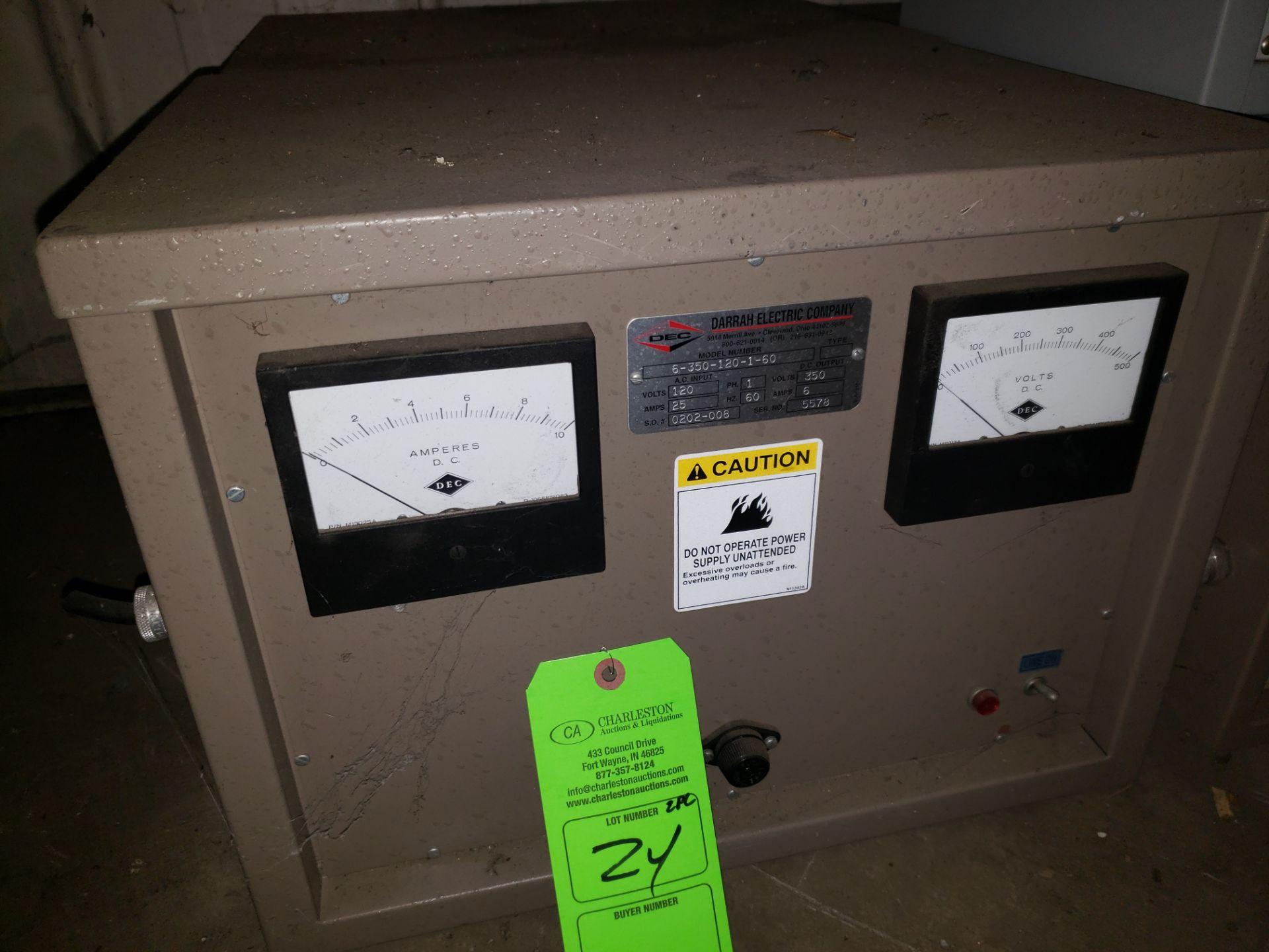 Lot 24 - (2) DEC POWER SUPPLY MODEL-6-1350-12-1-60