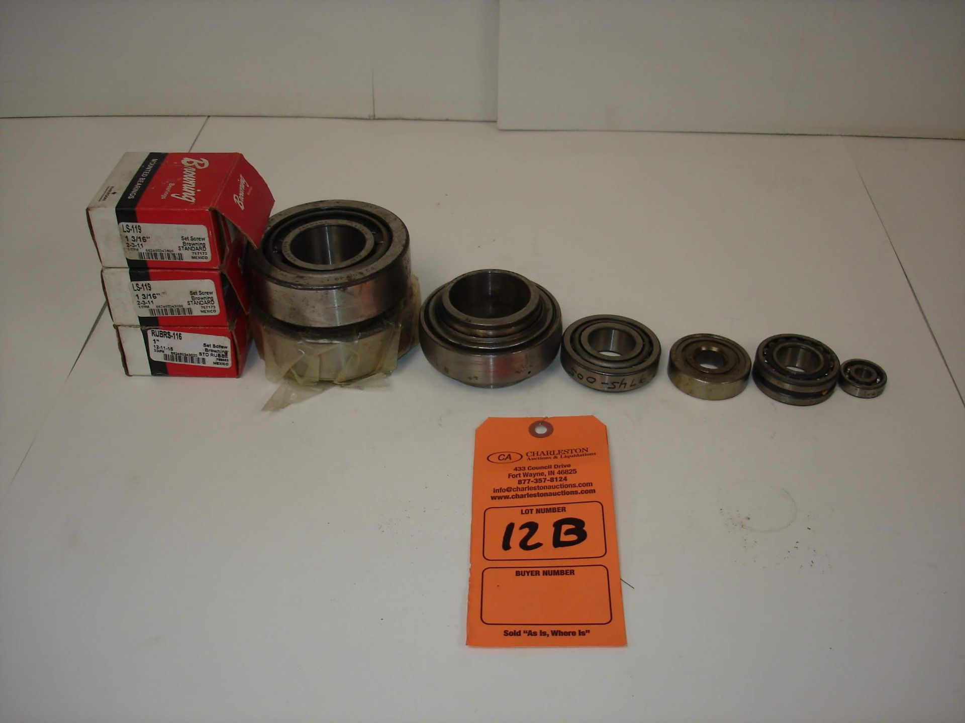 Lot 12B - (10) MISC BRANDED BEARINGS AND MORE: BROWNING LS-119 AND ALL OTHER ITEMS INCLUDED IN PHOTOS!