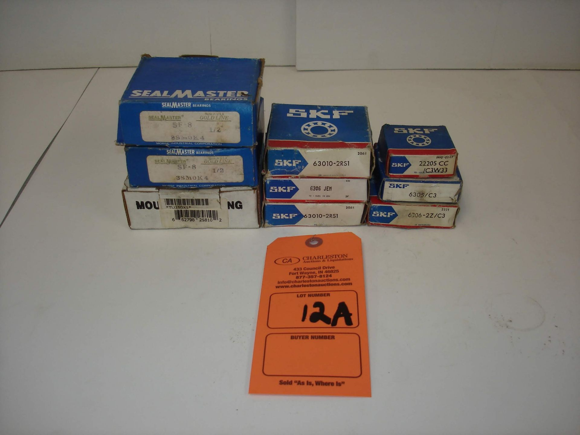 Lot 12A - (9) MISC BRANDED BEARINGS AND MORE: SEALMASTER SF-8 AND ALL OTHER ITEMS INCLUDED IN PHOTOS!