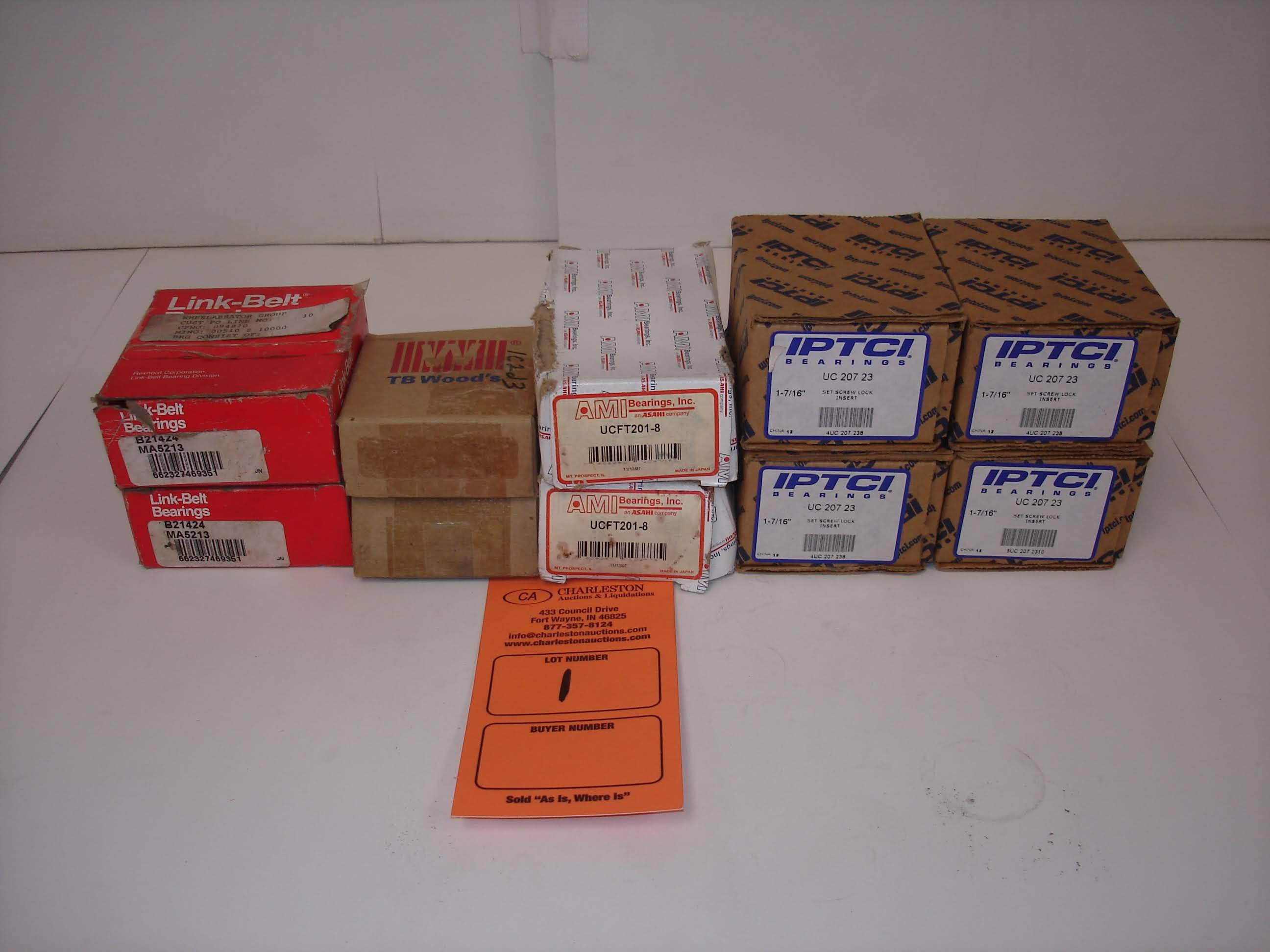 Lot 1 - (10) MISC BRANDED BEARINGS: MA5213 AND ALL OTHER ITEMS INCLUDED IN PHOTOS!
