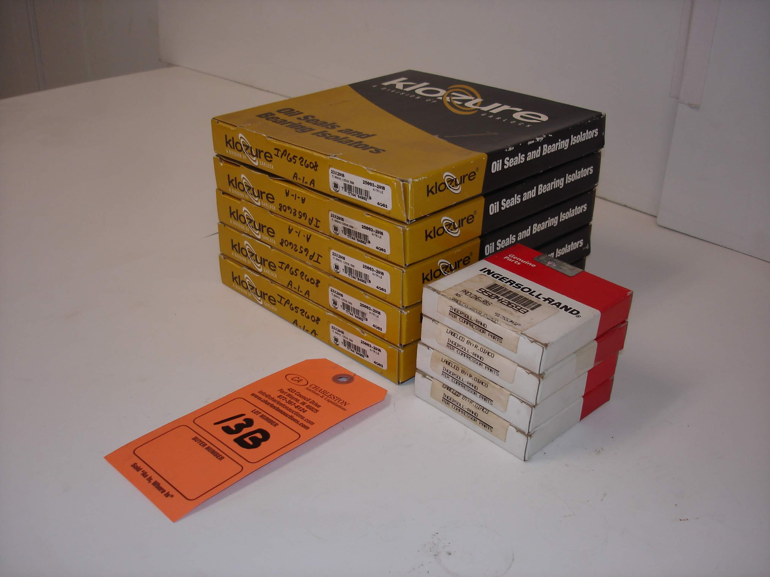 Lot 13B - (9) MISC BRANDED OIL SEALS AND PART KITS: NEW IN BOX GARLOCK KLOZURE OIL SEALS AND ALL OTHER ITEMS
