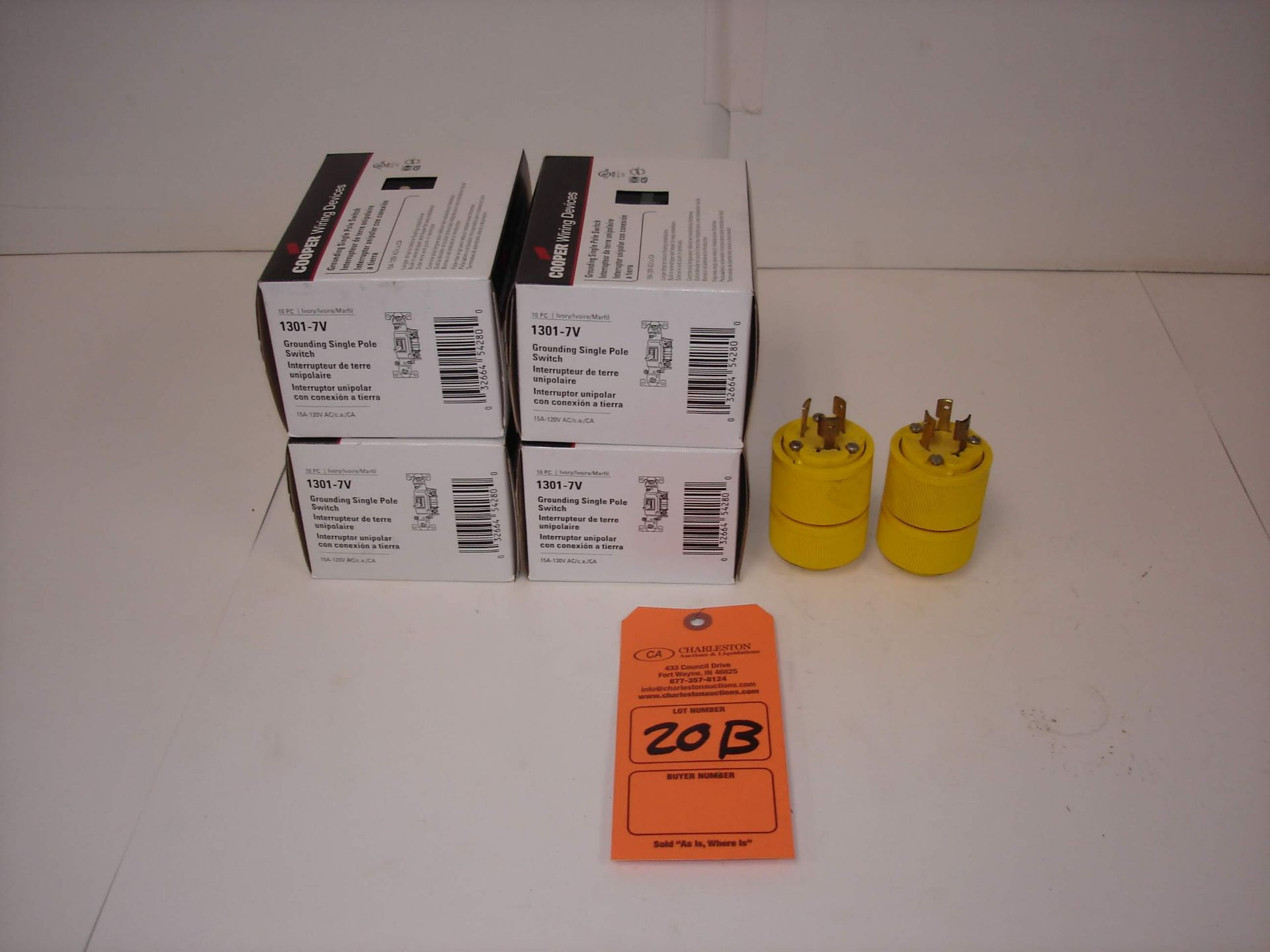 Lot 20B - (6) MISC BRANDED HOME IMPROVEMENT PARTS: GE L-20 TWIST-LOCK PLUG AND ALL OTHER ITEMS INCLUDED IN