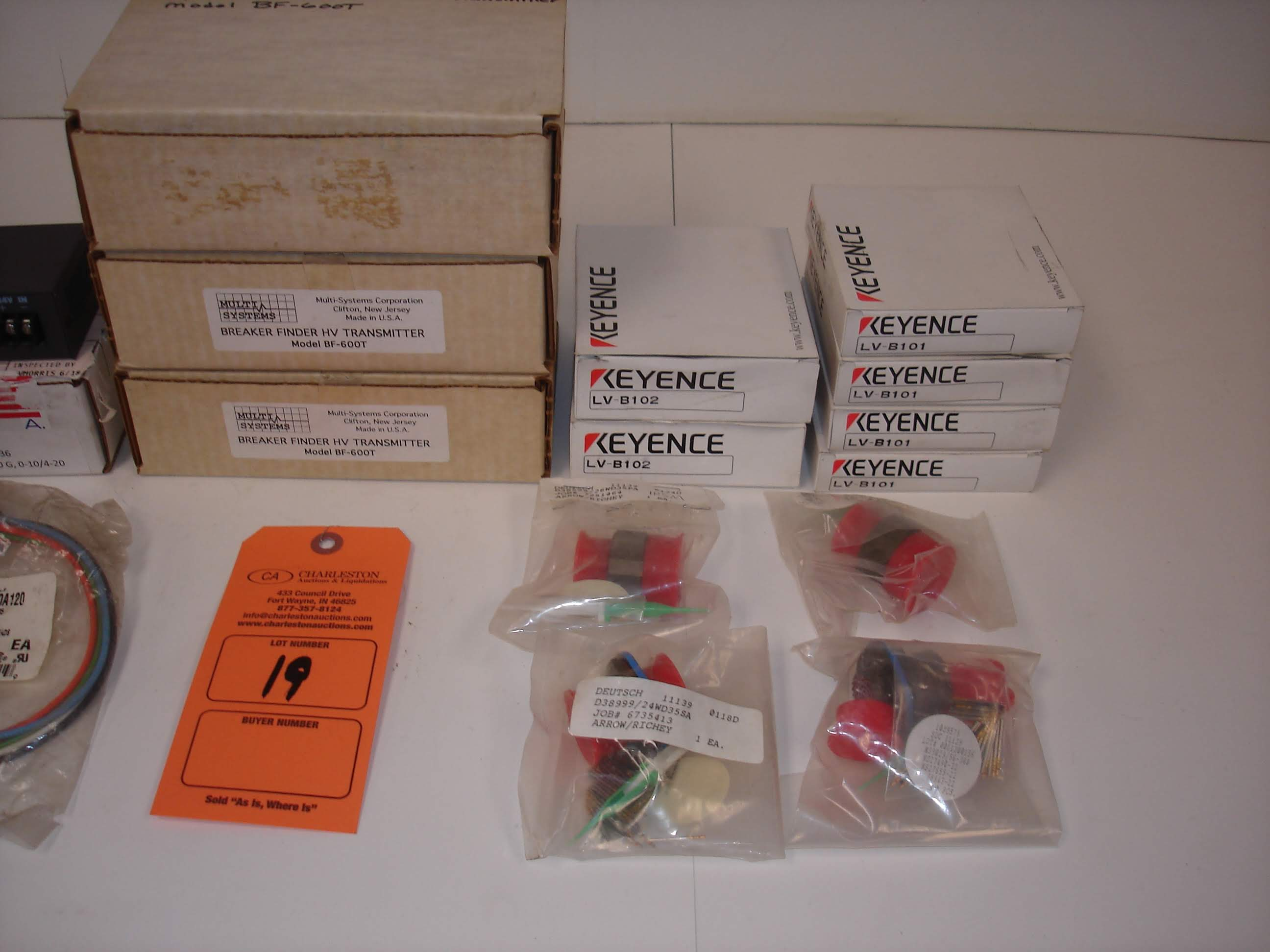 Lot 19 - (20) MISC BRANDED PARTS AND KITS: MULTI SYSTEMS MODEL BF-600T TRANSMITTER AND ALL OTHER ITEMS