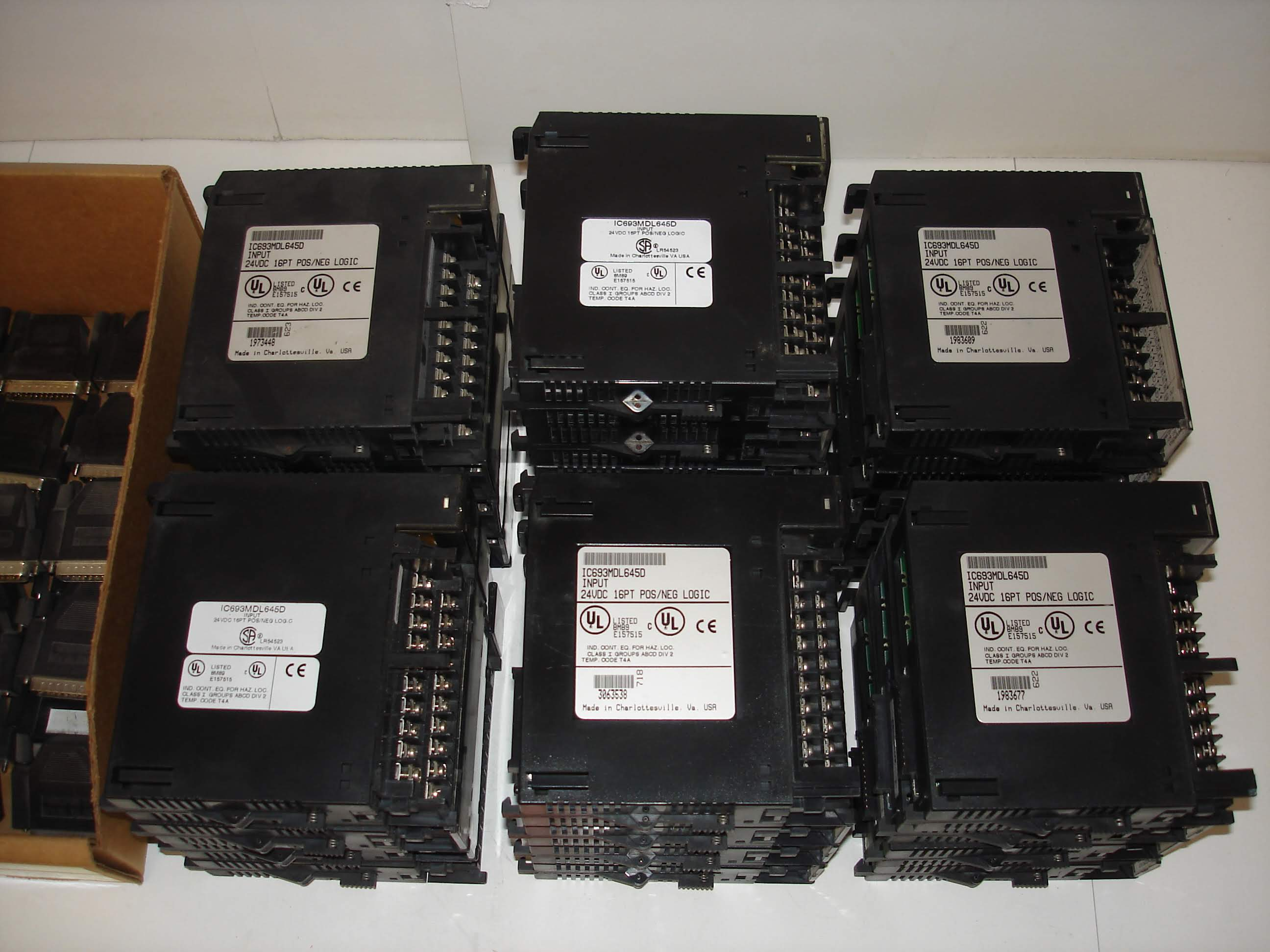 Lot 24A - (50+) MISC GE FANUC MODULES AND MORE: GENERAL ELECTRIC IC693MDL645D INPUT MODULE AND ALL OTHER ITEMS