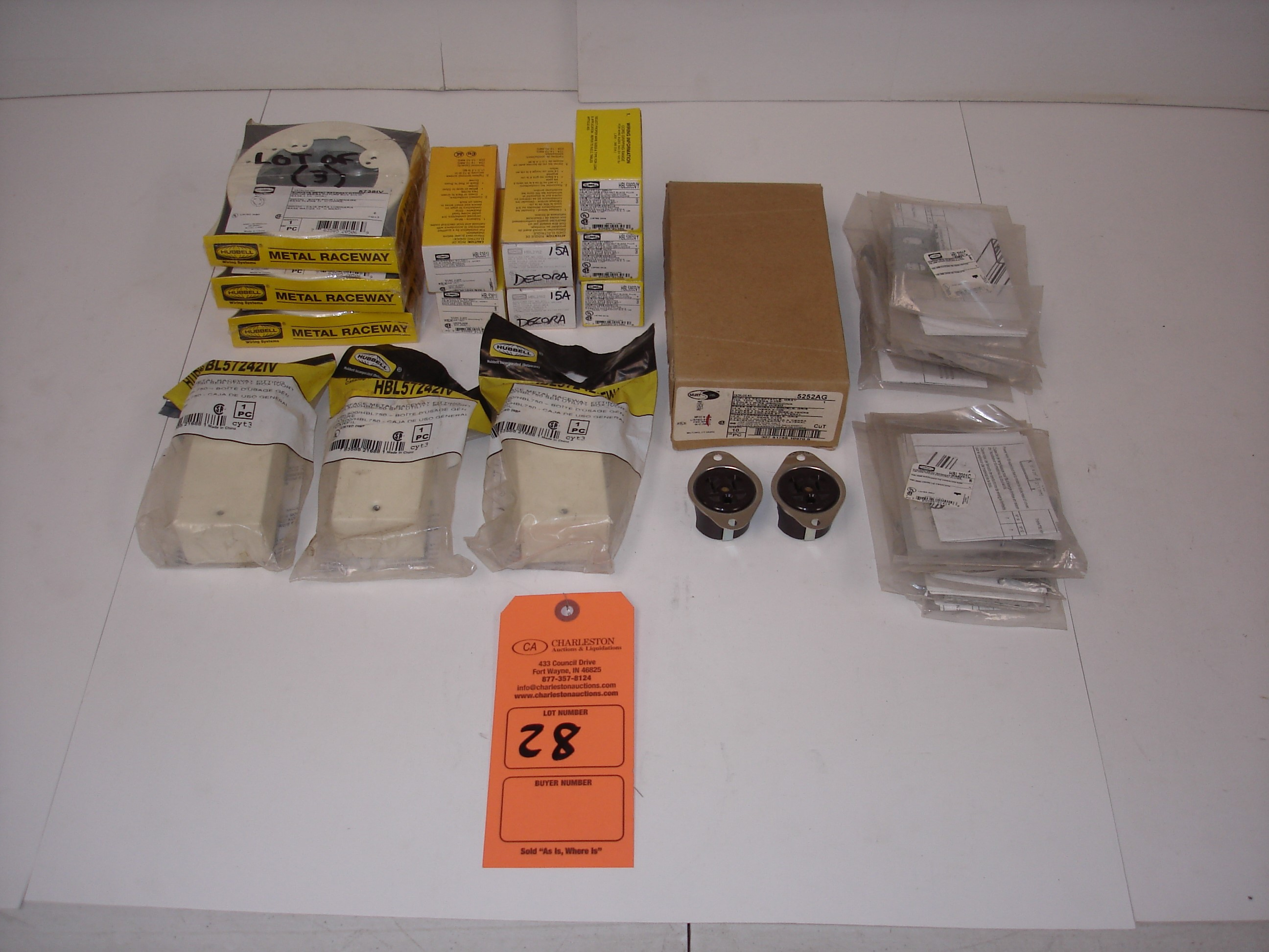Lot 28 - (25+) MISC HUBBELL ELECTRICAL HARDWARE: HUBBELL HBL5361 AND ALL OTHER ITEMS INCLUDED IN PHOTOS!