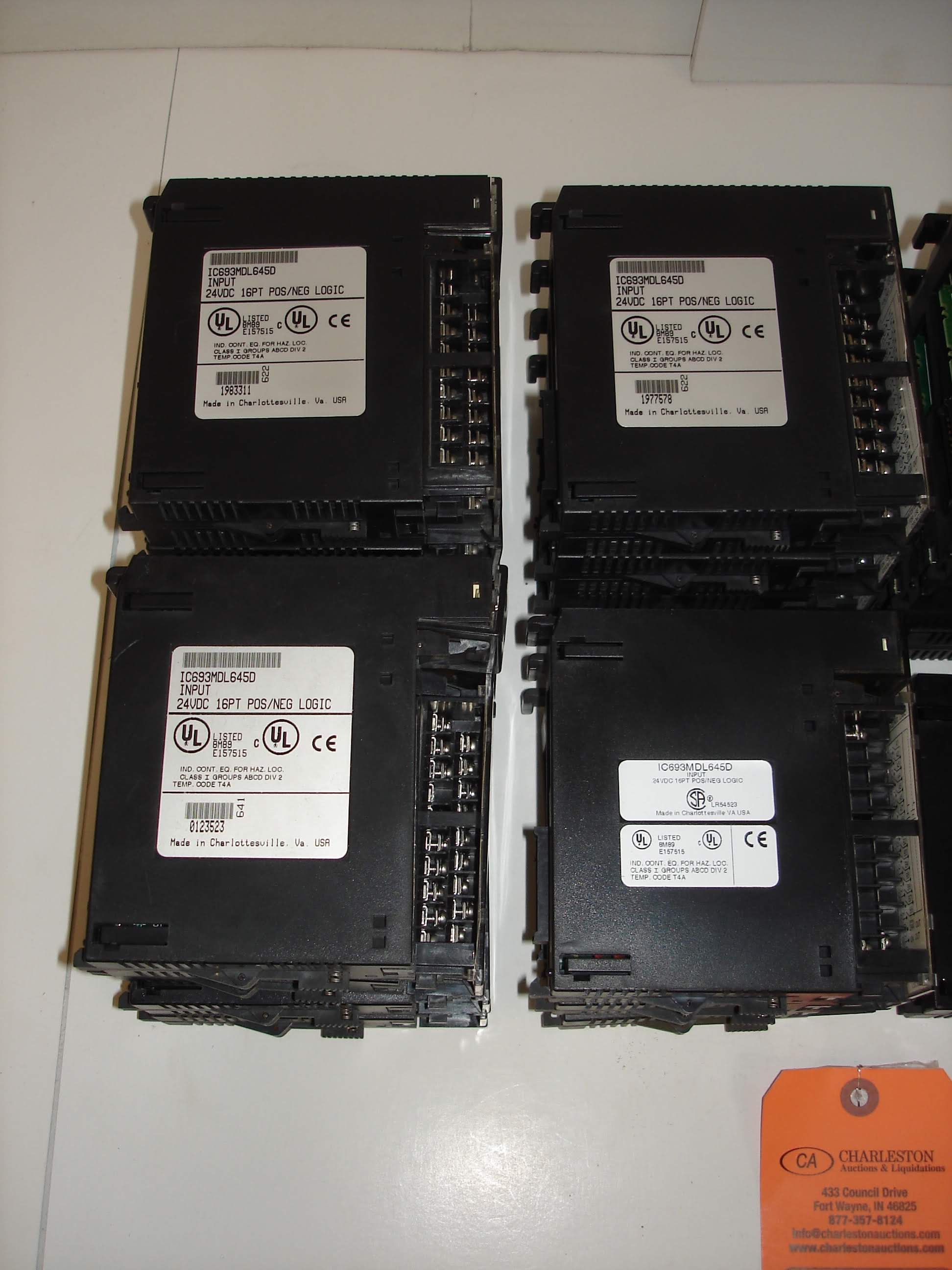 Lot 24B - (20+) MISC GE FANUC MODULES: GENERAL ELECTRIC 1IC693MDL645D INPUT MODULE AND ALL OTHER ITEMS