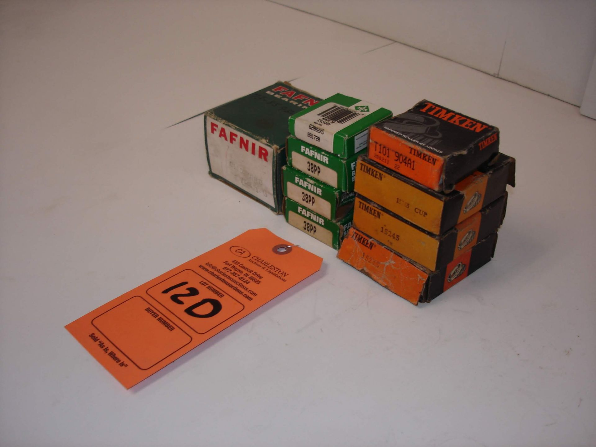 Lot 12D - (9) MISC BRANDED BEARINGS: FAFNIR G1103KRRB AND ALL OTHER ITEMS INCLUDED IN PHOTOS!