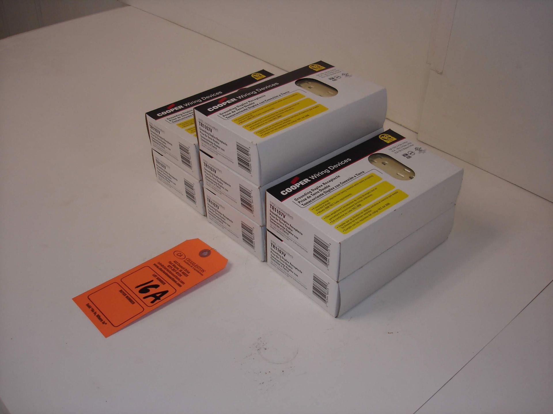 Lot 16A - (7) COOPER TR1107V IVORY RECEPTACLES 10/BOX REFER TO PHOTOS!