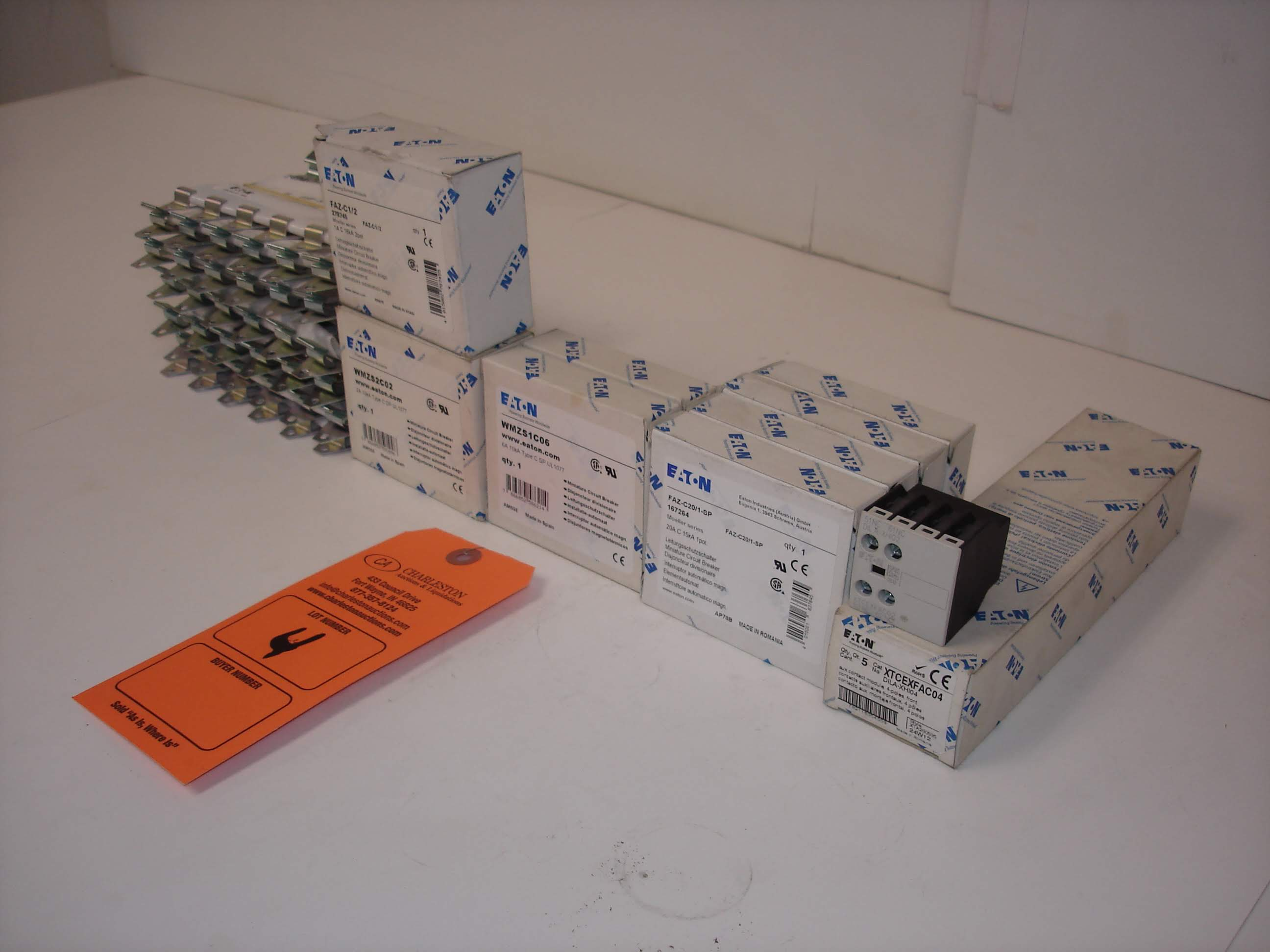 Lot 4 - (15+) MISC EATON BREAKERS: NEW EATON FAZ-C20/1-SP AND ALL OTHER ITEMS INCLUDED IN PHOTOS!