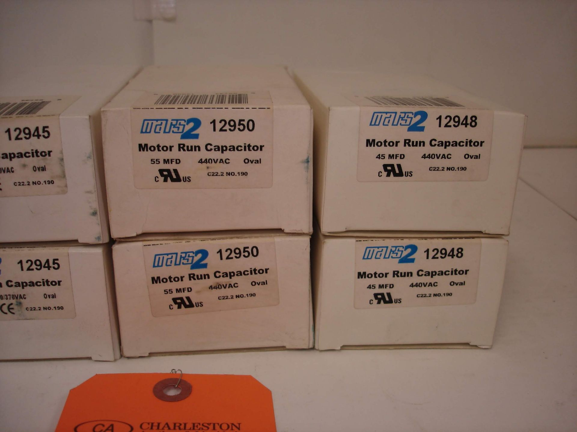 Lot 3A - (8) MISC MARS CAPACITORS: NEW MARS 12950 AND ALL OTHER ITEMS INCLUDED IN PHOTOS!