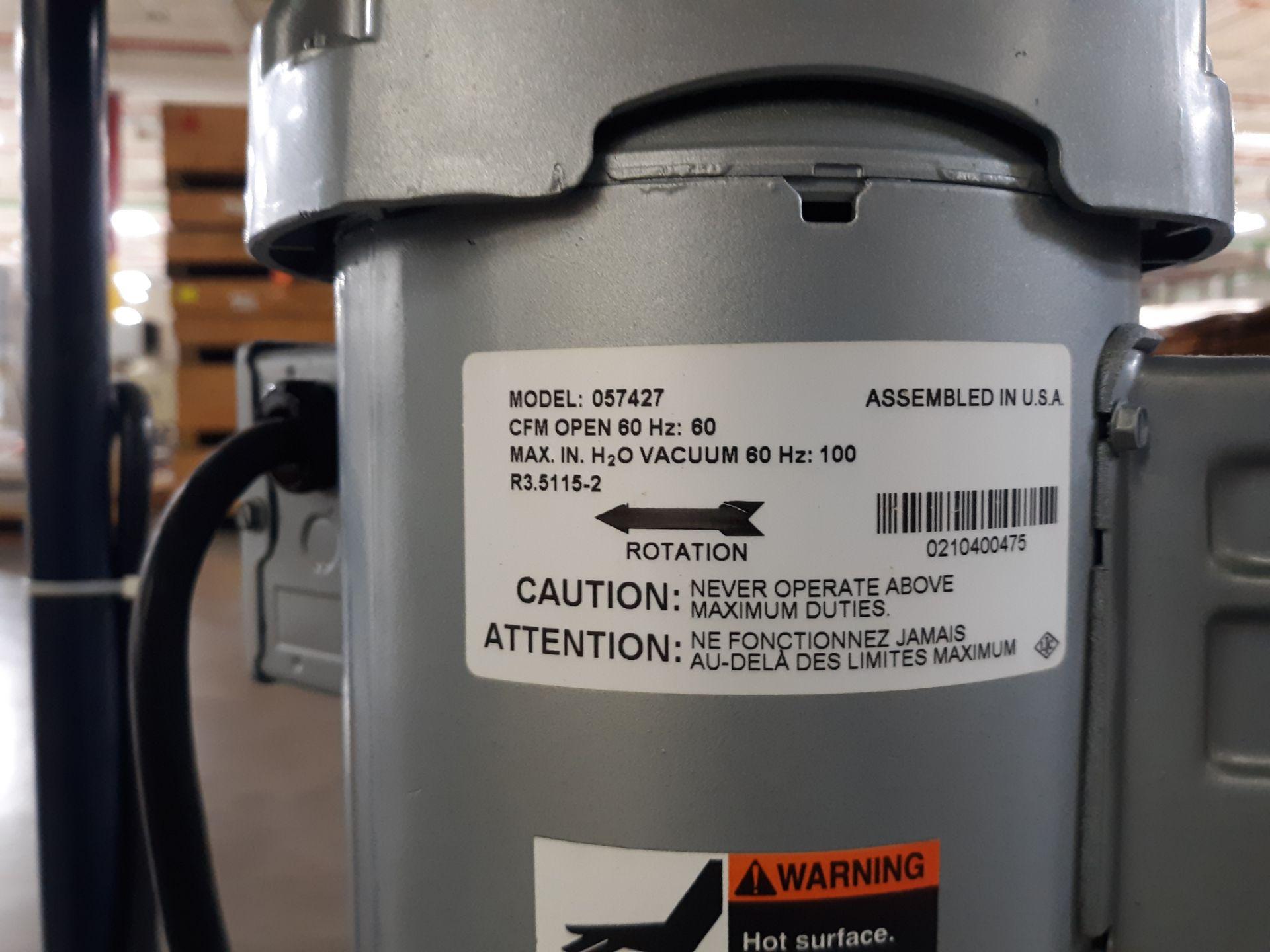 Lot 53 - EMERSON VACUUM PUMP MODEL-057427 CMF OPEN 60HZ MAX IN H2O VACUUM 60 HZ@100; RIGGING FEE: $10