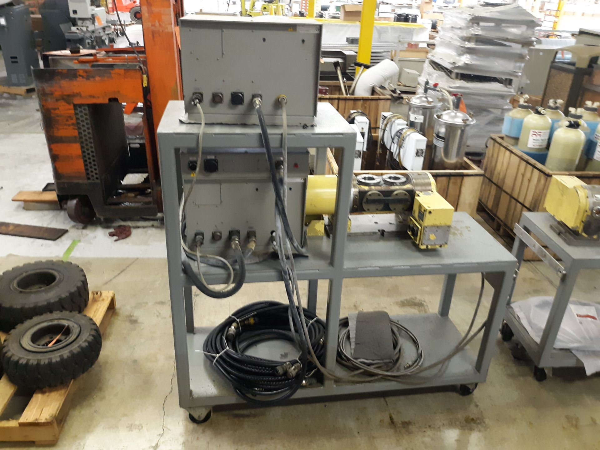 Lot 34 - NIKKEN ROTARY TABLE W/CABLES W(2) CONTROL UNITS (2) NIKKEN KEYPADS; RIGGING FEE: $10