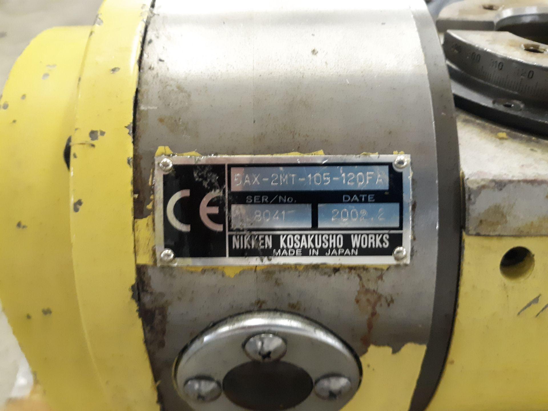 Lot 37 - NIKKEN KOSAKUSHO WORKS ROTARY TABLE W/ CABLES(2) NEC CONTROL (2)NIKKEN KEYPADS RIGGING FEE:$10