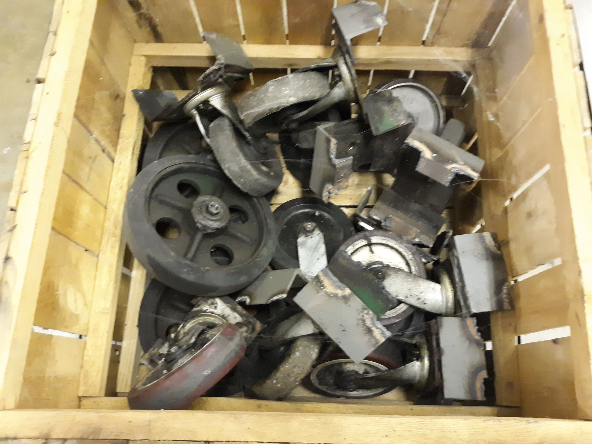 Lot 49 - CRATE OF CASTERS (LOCATED AT: 570 S. MAIN STREET, CHURUBUSCO, IN 46723) RIGGING FEE: $10
