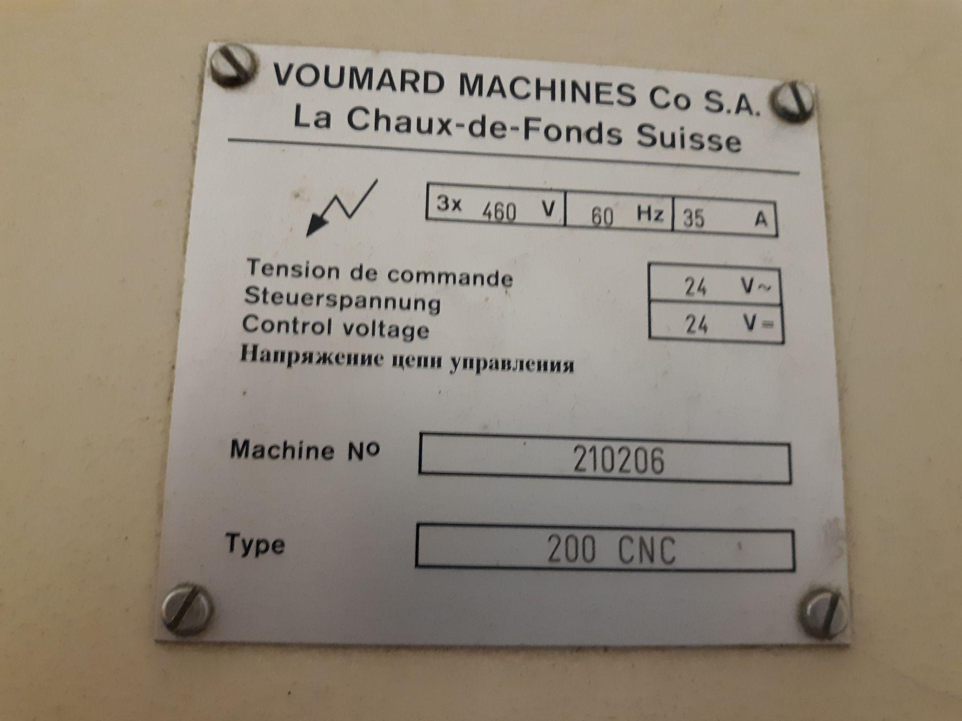 Lot 44 - VOUMARD MACHINE CONTROL CABINET TYPE-200 CNC MACHINE#210206 RIGGING FEE: $10