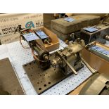 """Lot 18 - 3/8"""" SHOP BUILT PNEUMATIC HORIZONTAL DRILL WITH 5-C LEVER TYPE COLLET FIXTURE AND ARO TWIN SPINDLE"""