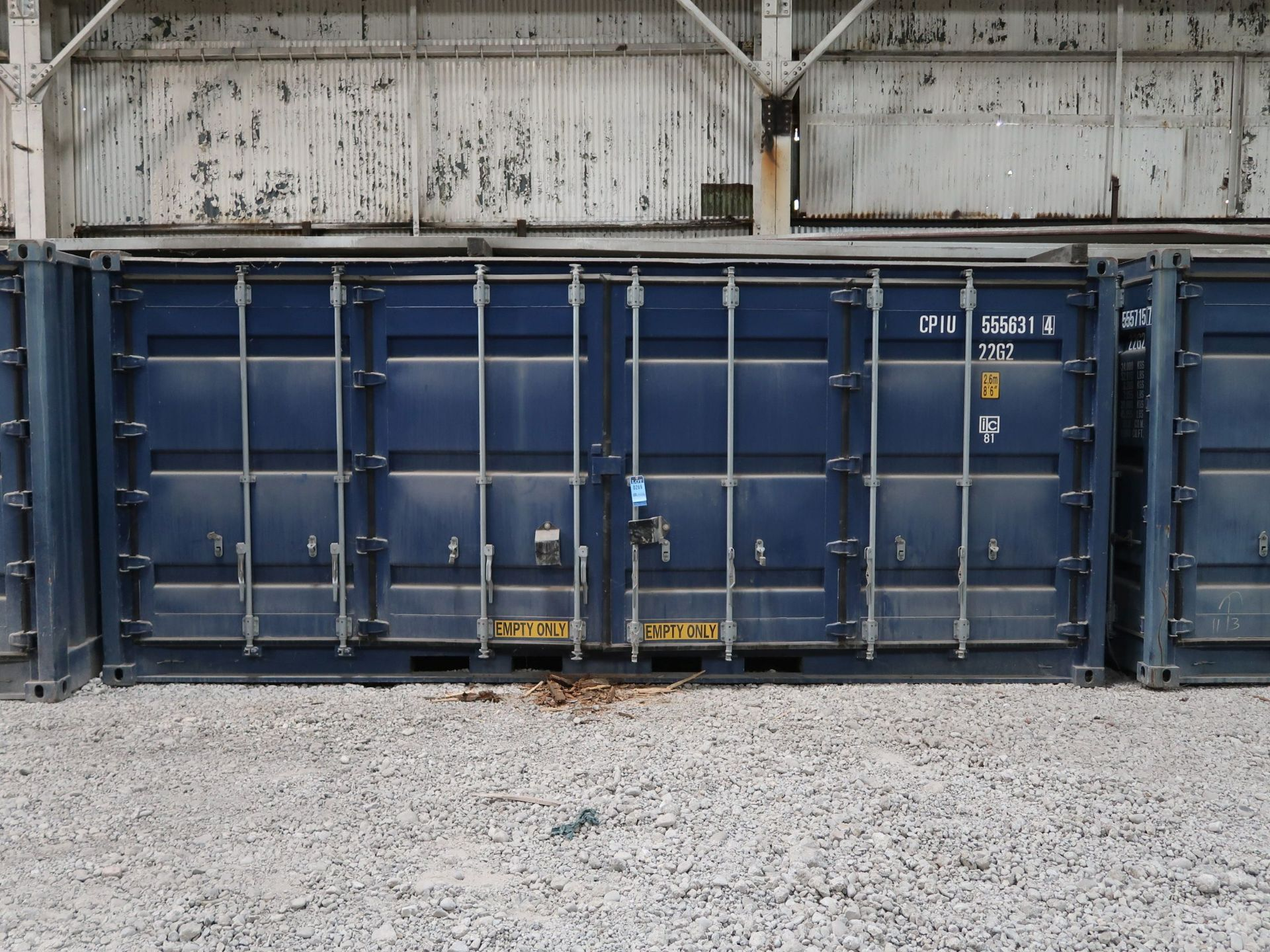 Lot 269 - 8' X 20' CONTIANER PROVIDERS INTERNATIONAL CONEX CONTAINER, SIDE AND END DOORS; NO. 555636 (NEW