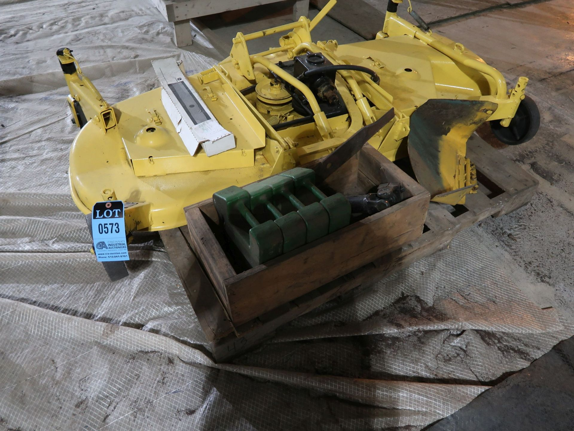 "Lot 573 - 62"" JOHN DEERE MOWER ATTACHMENT; S/N M02732X577569"